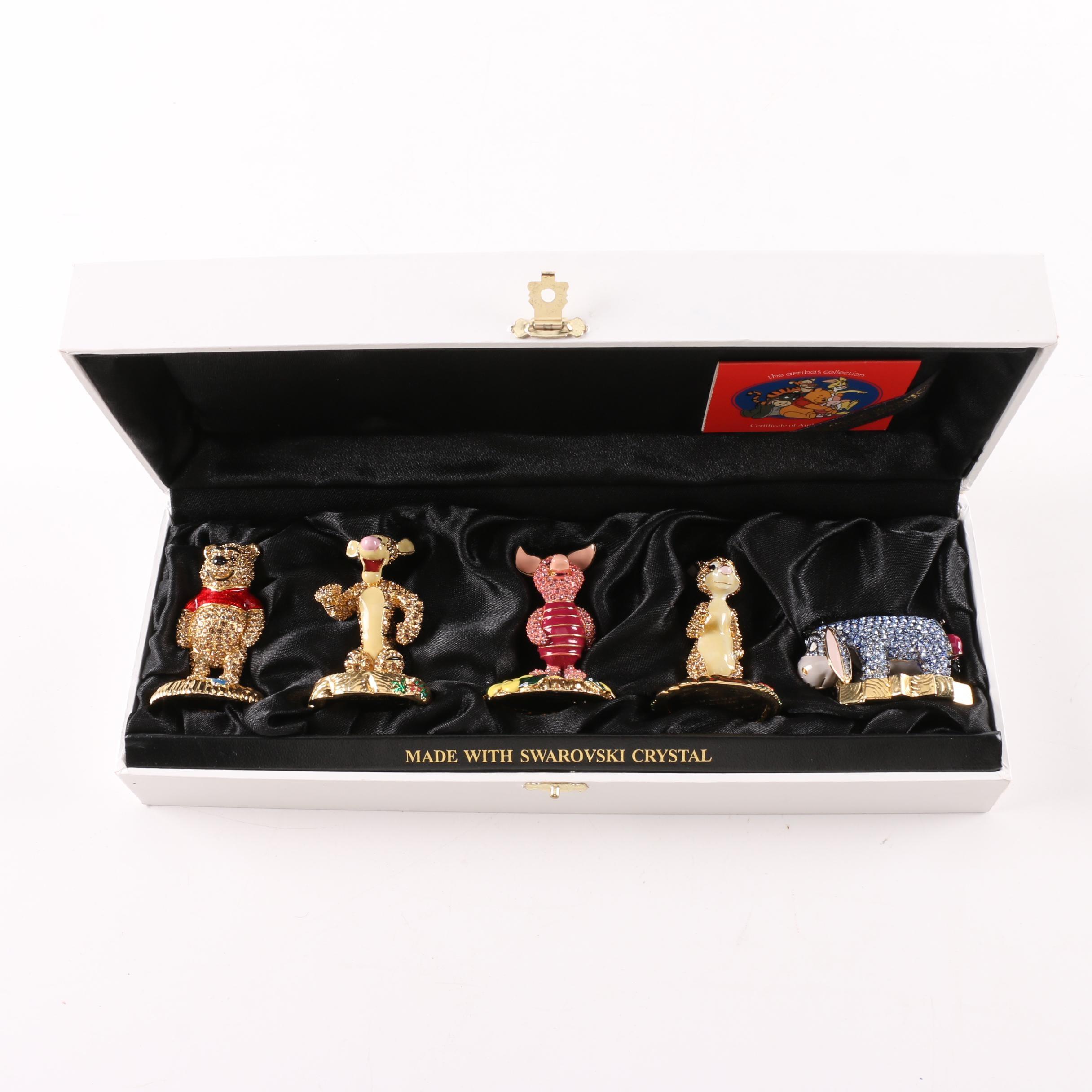 Limited Edition Arribas Brothers Winnie the Pooh Figurine Set