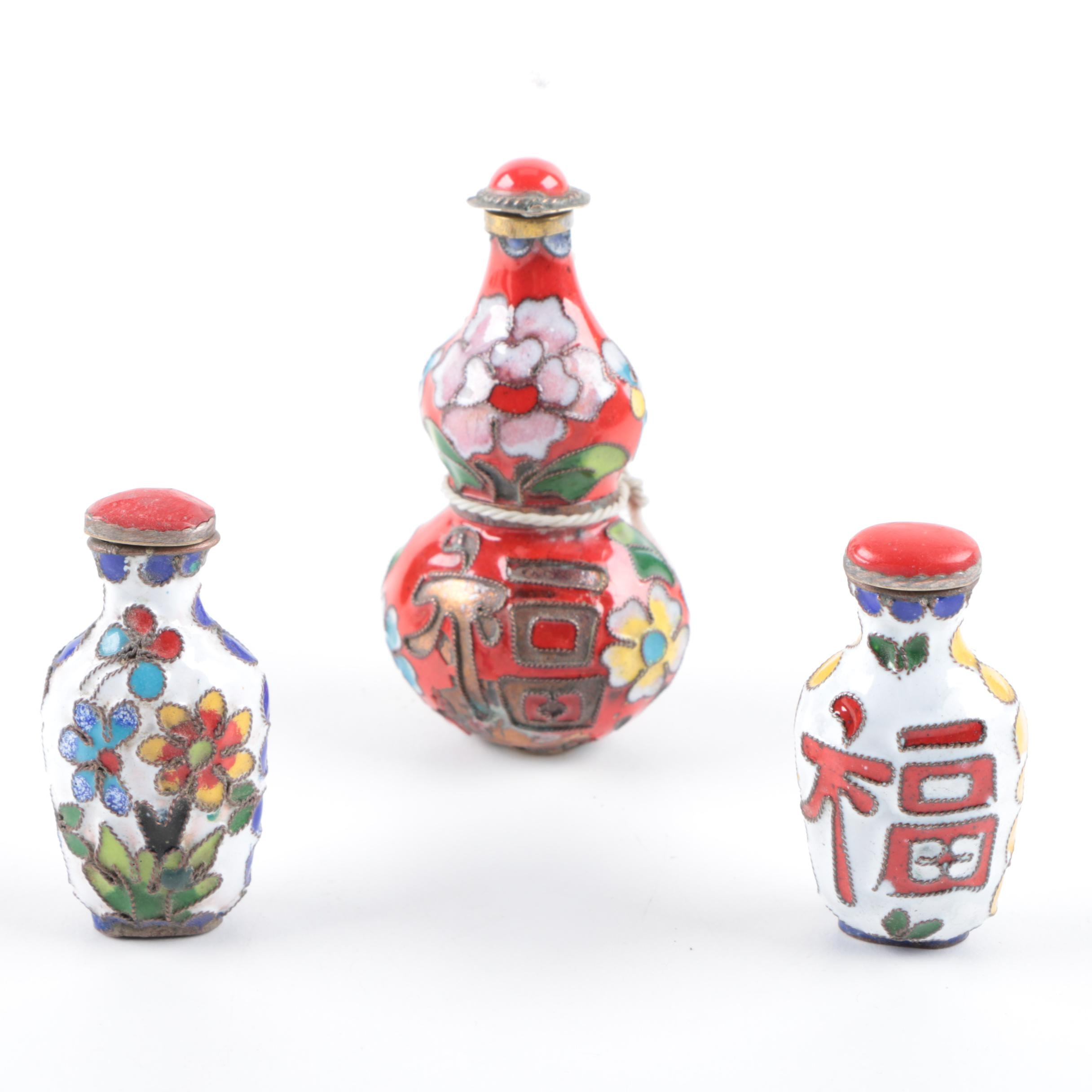 Chinese Cloisonné Snuff Bottles