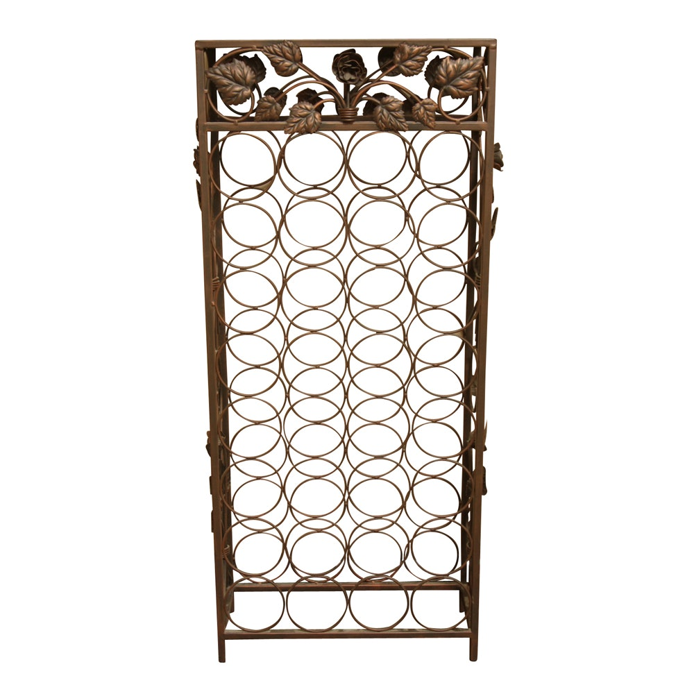 Large Metal Wine Rack