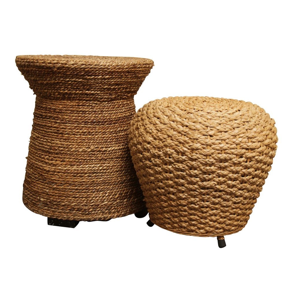 Braid-Woven Stool and Accent Table