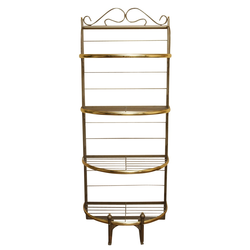 Brass and Wrought Metal Baker's Rack