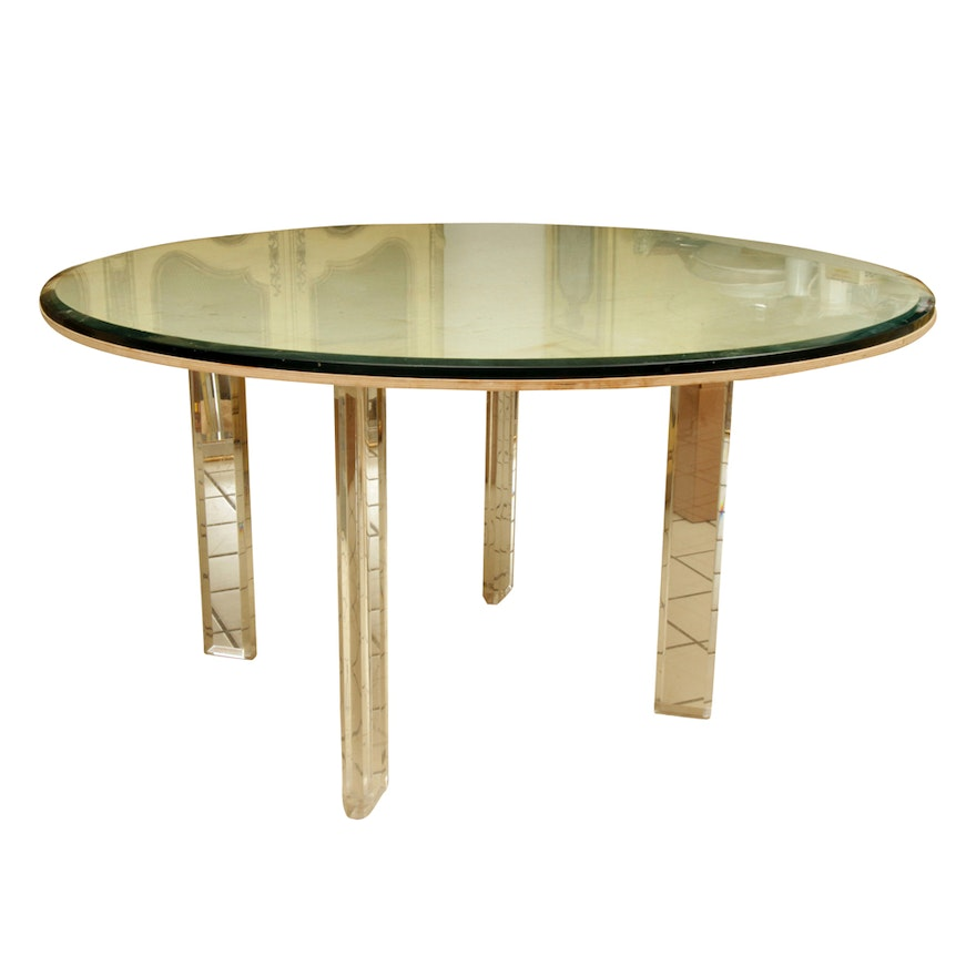 Glass Top Dining Table with Acrylic Base