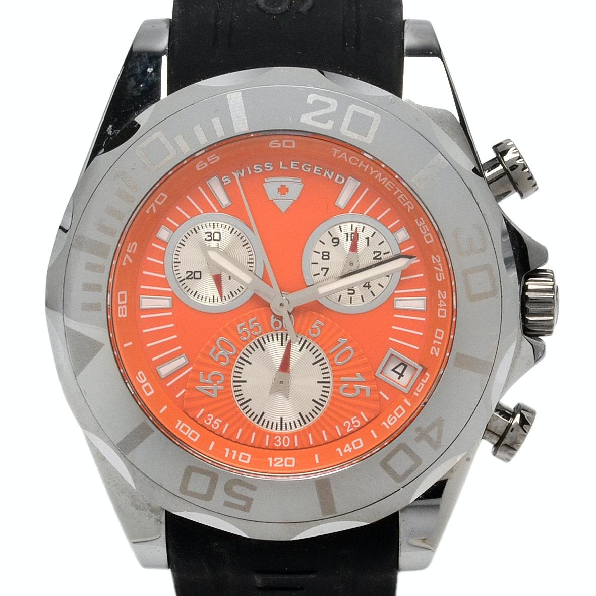 Swiss Legend Tungsten Chronograph with Orange Dial