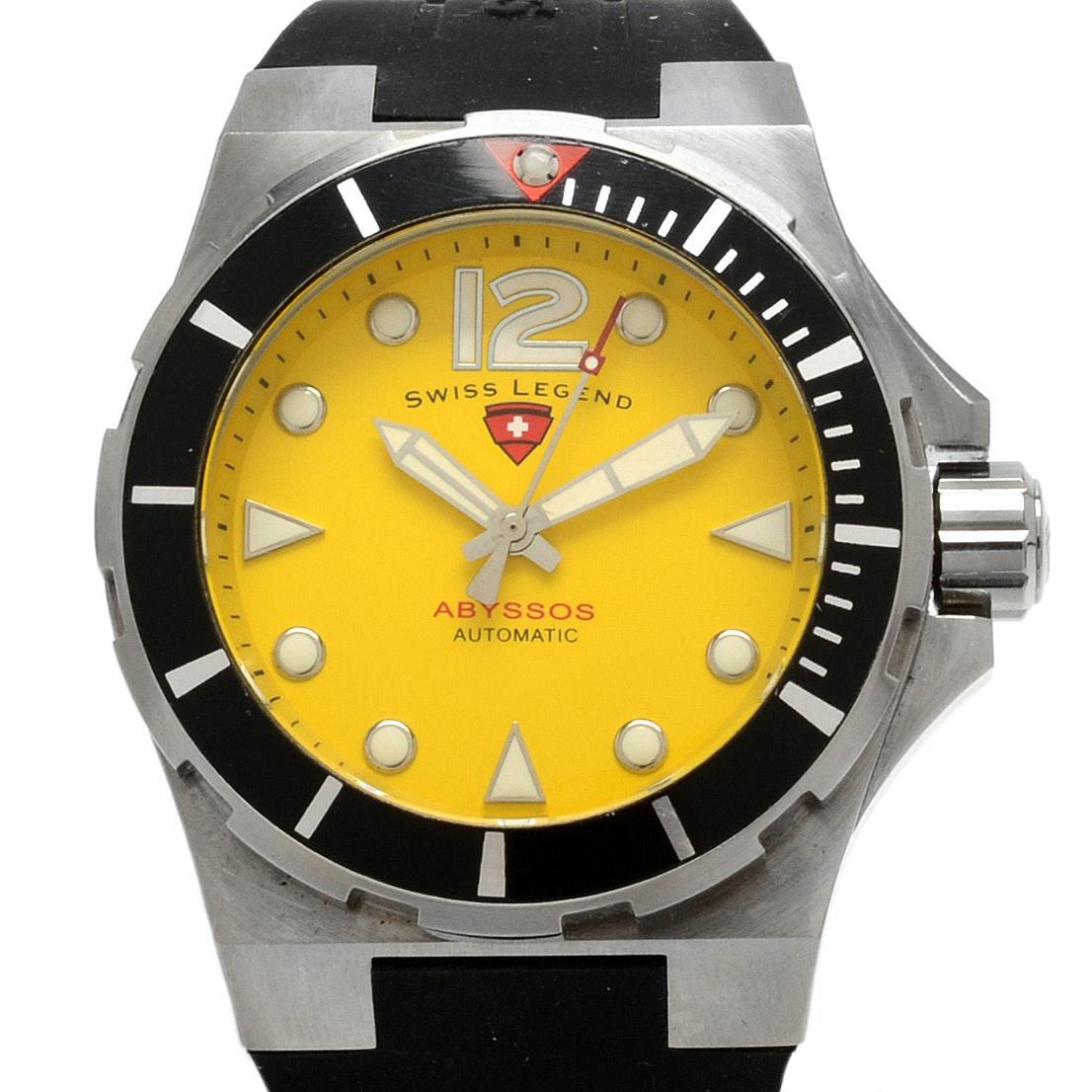 "Swiss Legend ""Abyssos"" Automatic Wristwatch With Watch Winder"