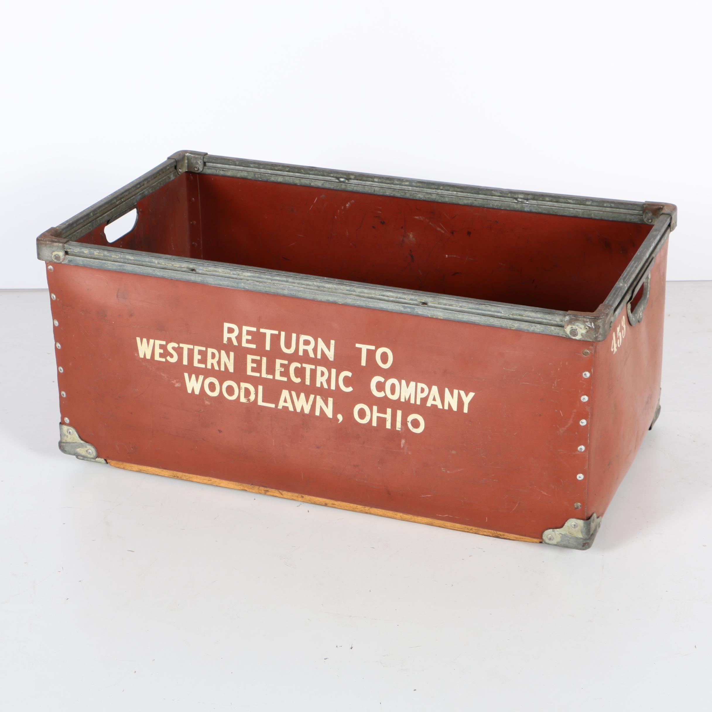 Vintage Western Electric Company Bin