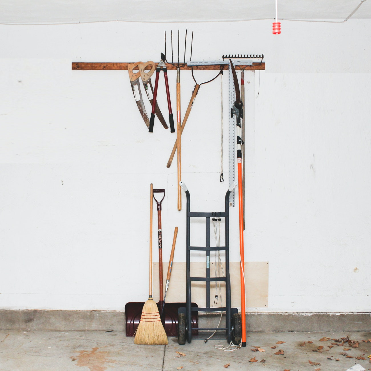 Extension Ladder and Assorted Lawn Tools