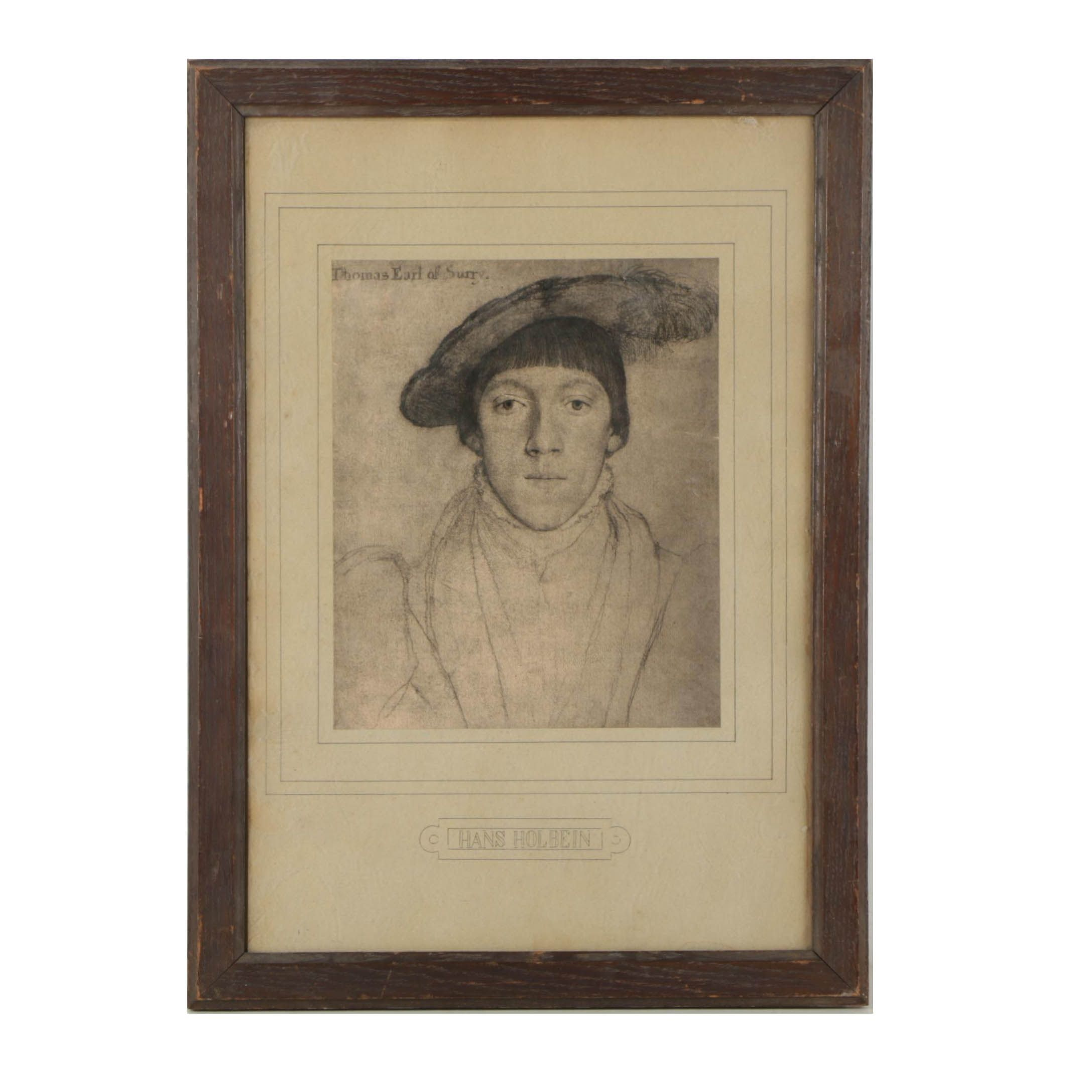 """Lithograph After Hans Holbein """"Thomas Earl of Surry"""""""