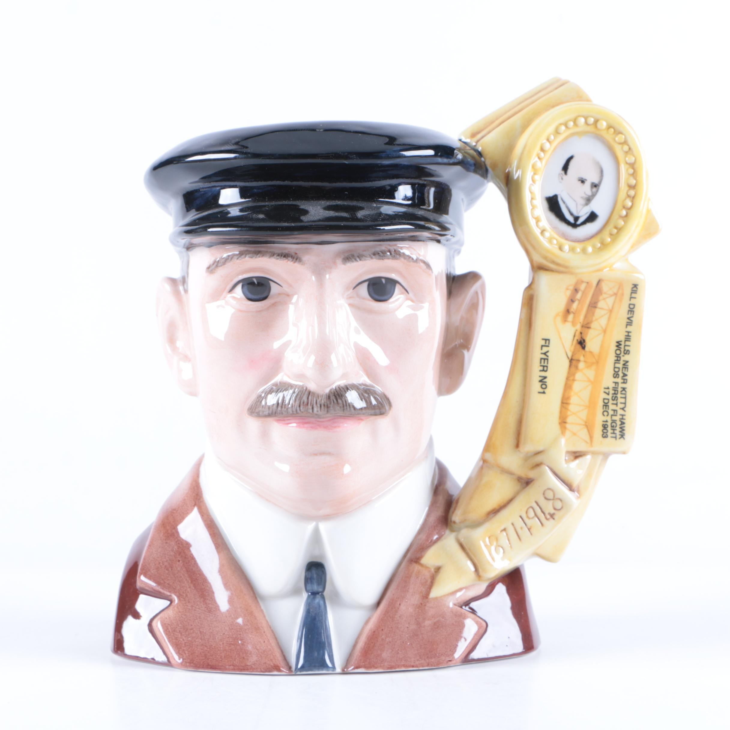 "Limited Edition Royal Doulton ""Orville Wright"" D7178 Character Jug"