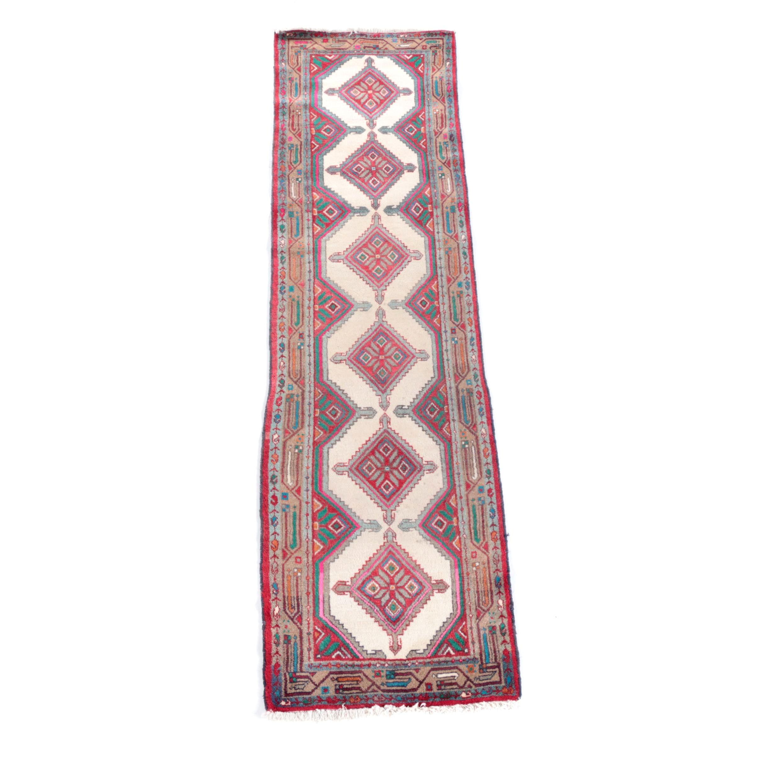 A hand-knotted Persian Seraband Wool Carpet Runner