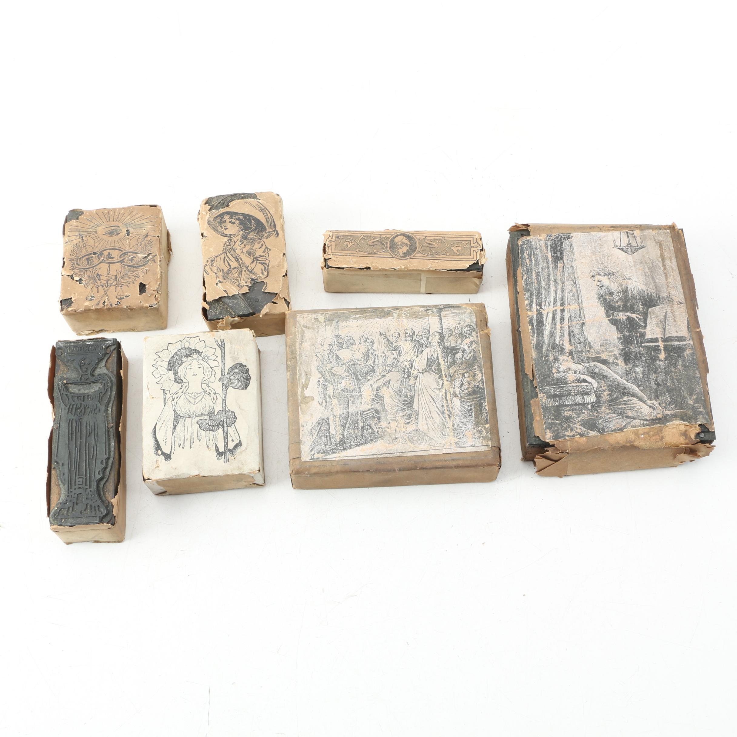 Antique Letterpress Image Plates