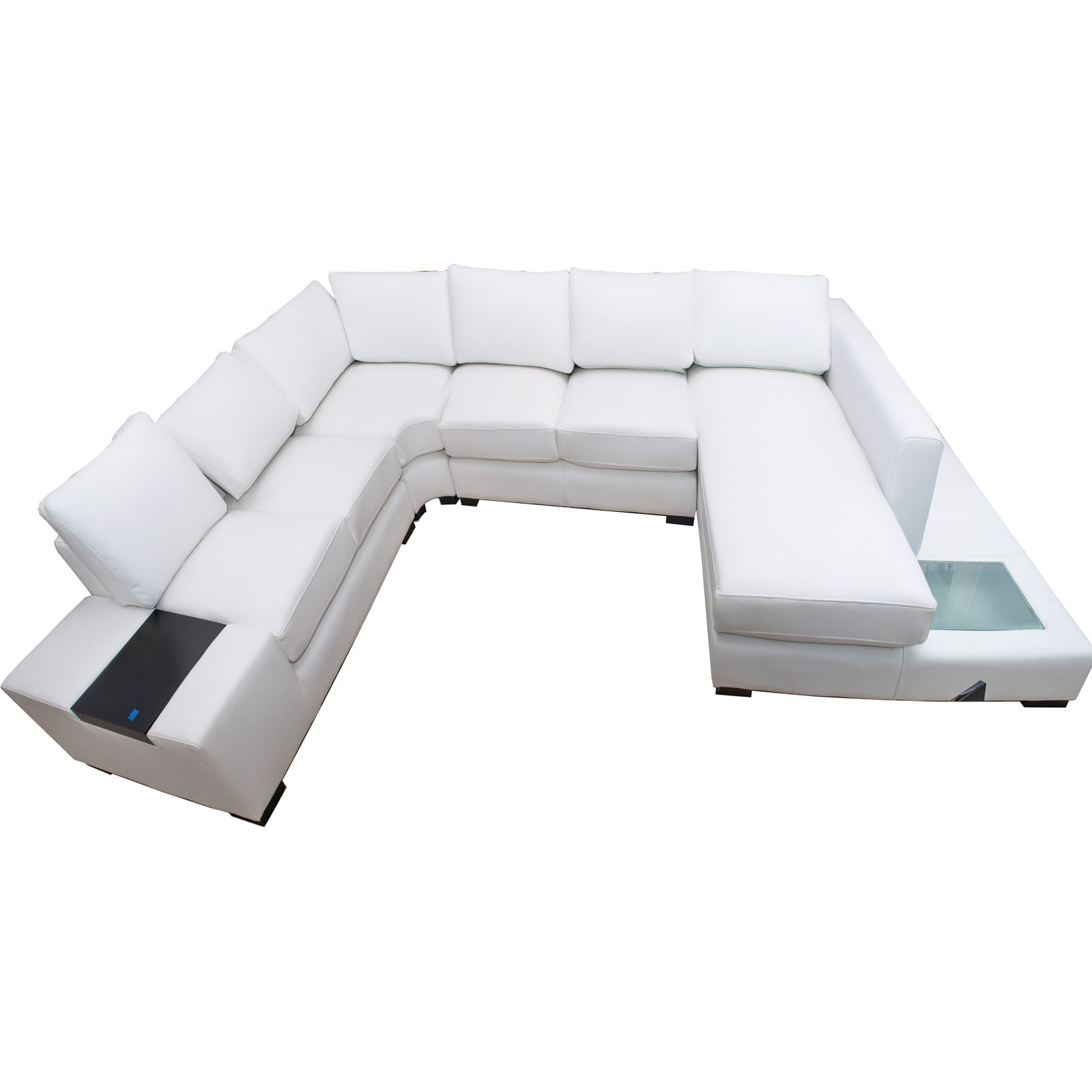 Substantial Contemporary Divani Casa White Eco-Leather Sectional Sofa