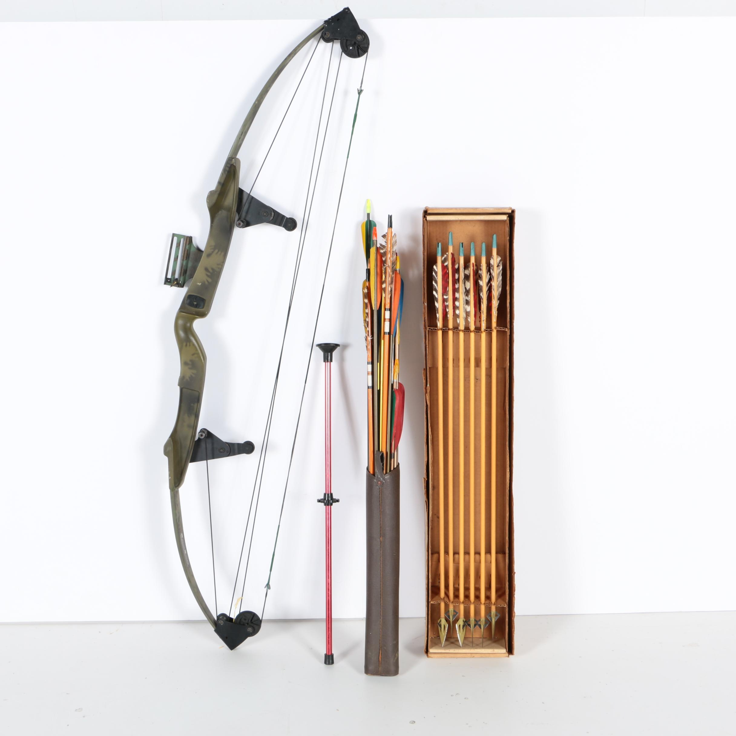 Bear Compound Bow with Arrows