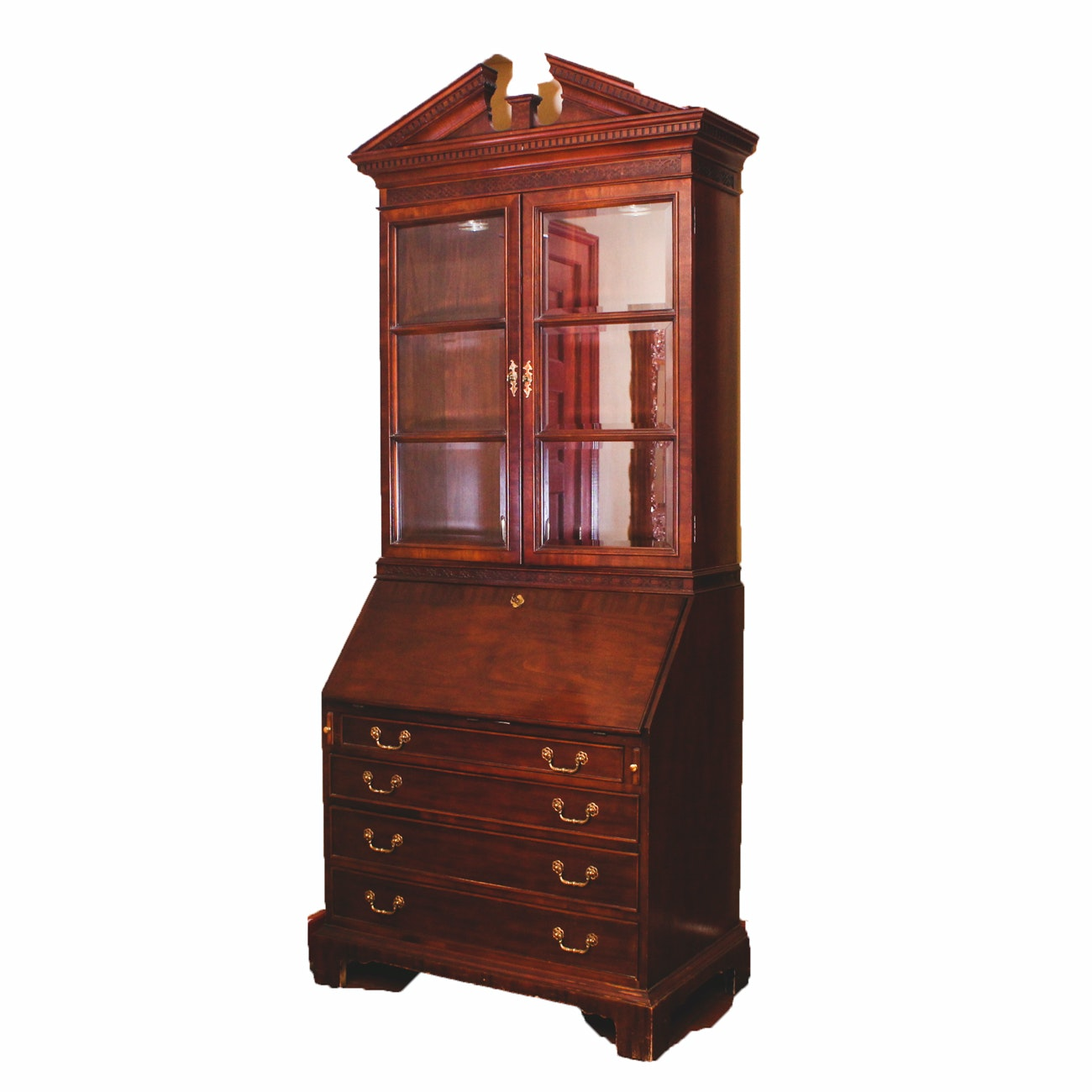 Secretary With Display Hutch by Century Furniture