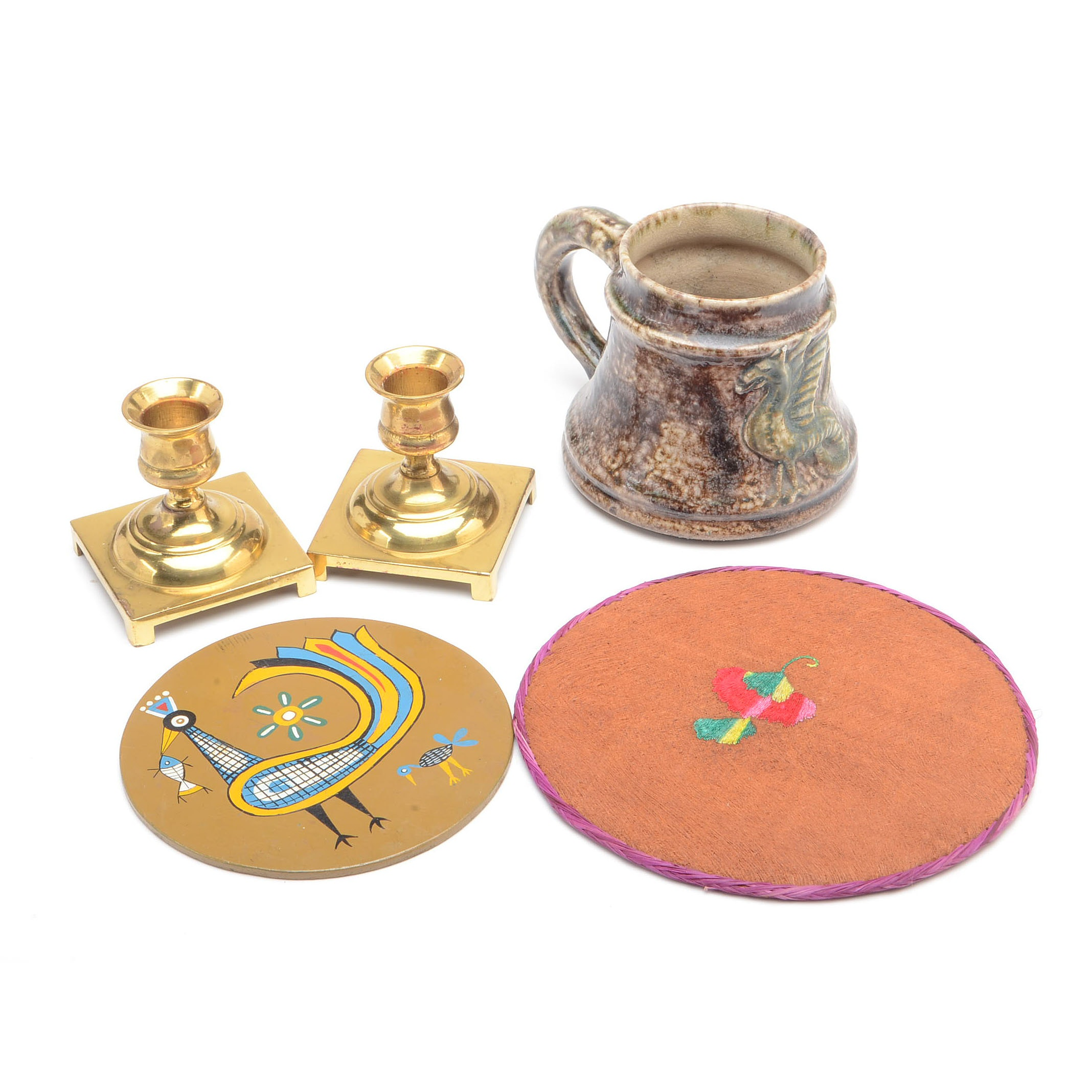 English Brass Candlesticks and Decor