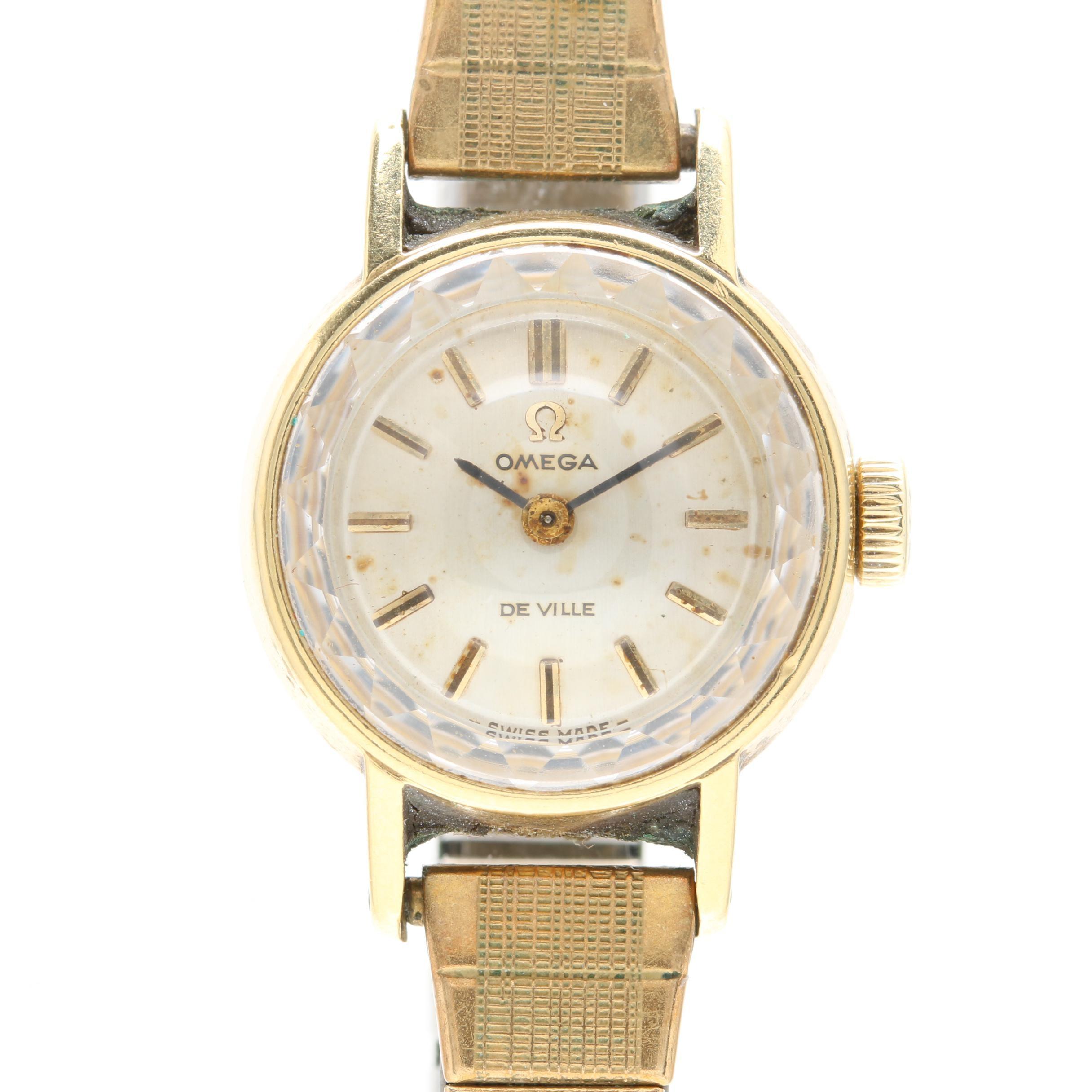Vintage Omega 18K Yellow Gold Wristwatch