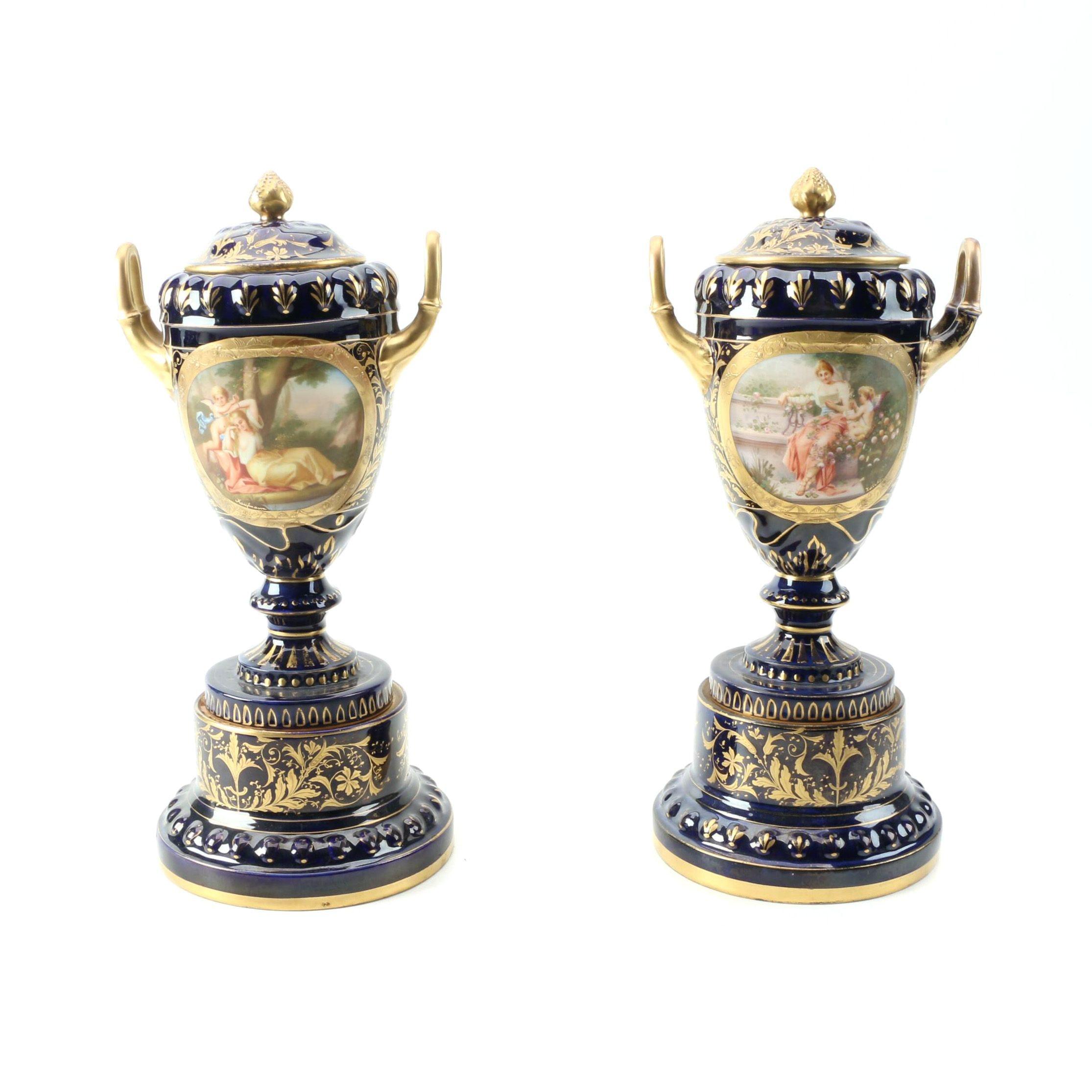 Ackermann and Fritze Royal Vienna Urns