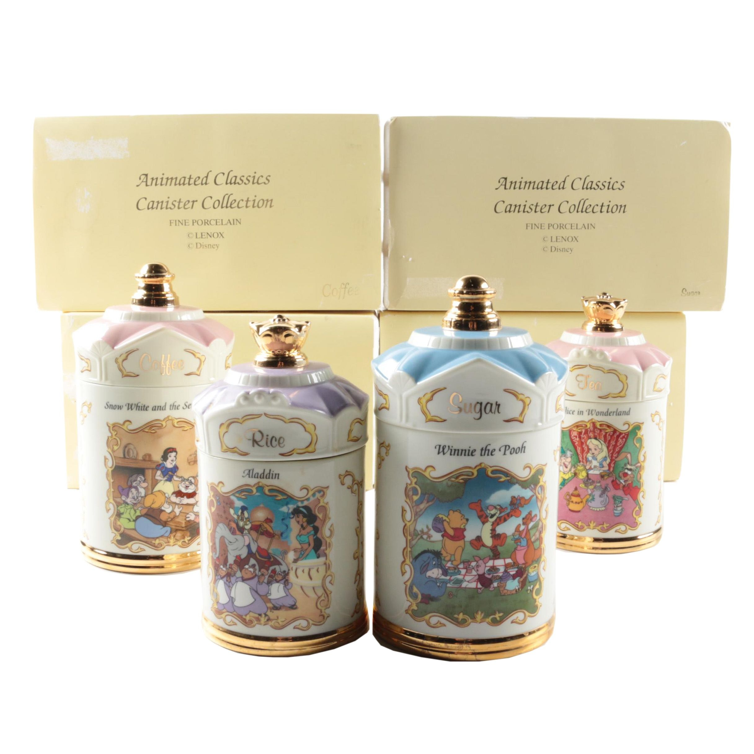 Lenox Walt Disney Themed Porcelain Spice Jars
