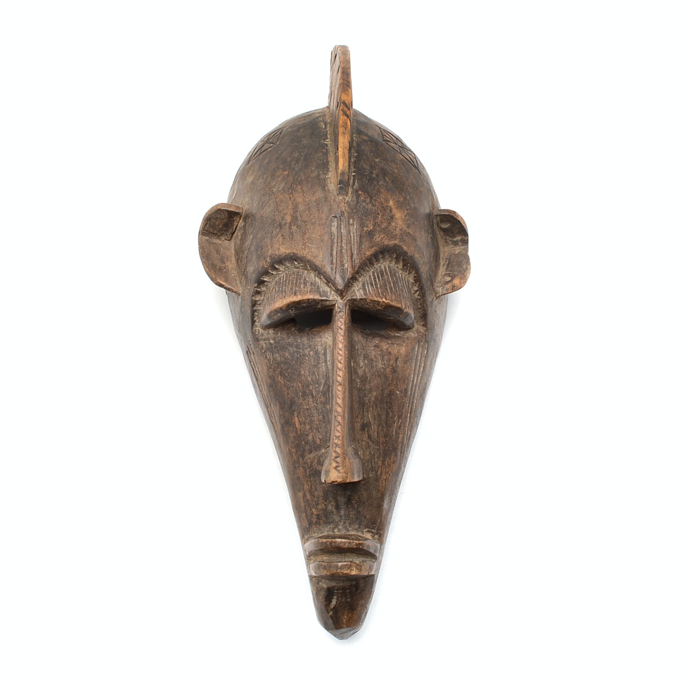 Early 20th Century Bamana Kore Society Carved Wood Mask from Mali, Africa