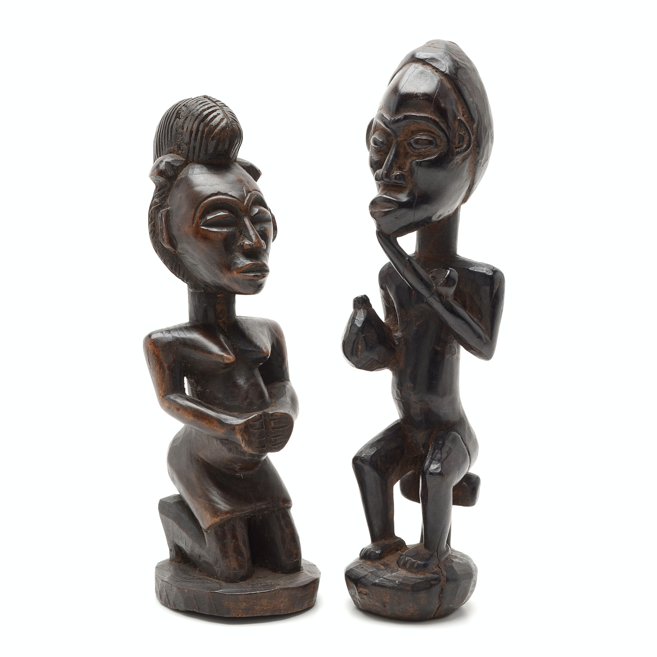 Early 20th Century Fang Culture Byeri Reliquary Carved Figures, Cameroon, Africa
