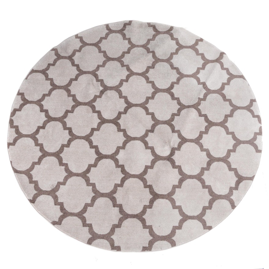 Loomed Turkish Contemporary Round Area Rug By Omid Asia