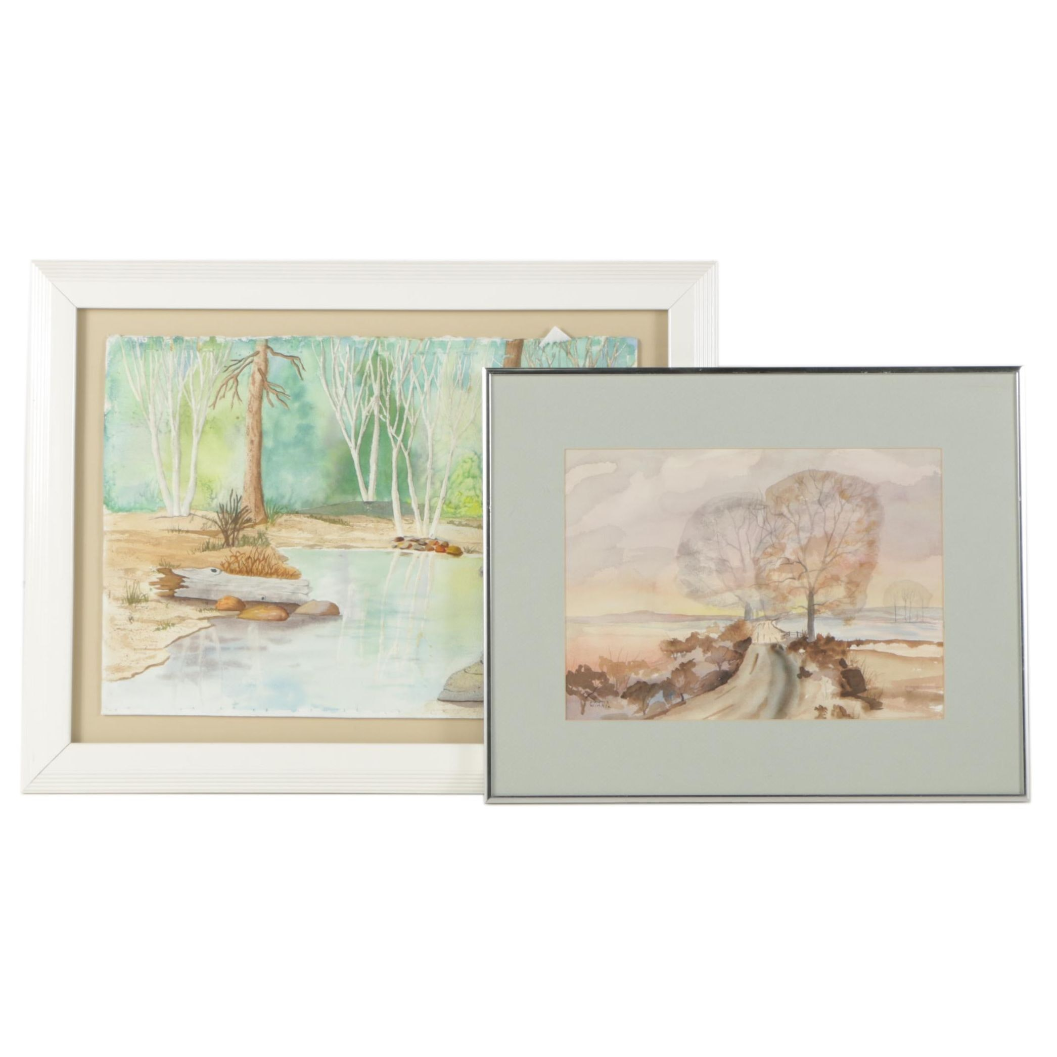 Daunis Winkle Watercolor Paintings of Landscape Scenes