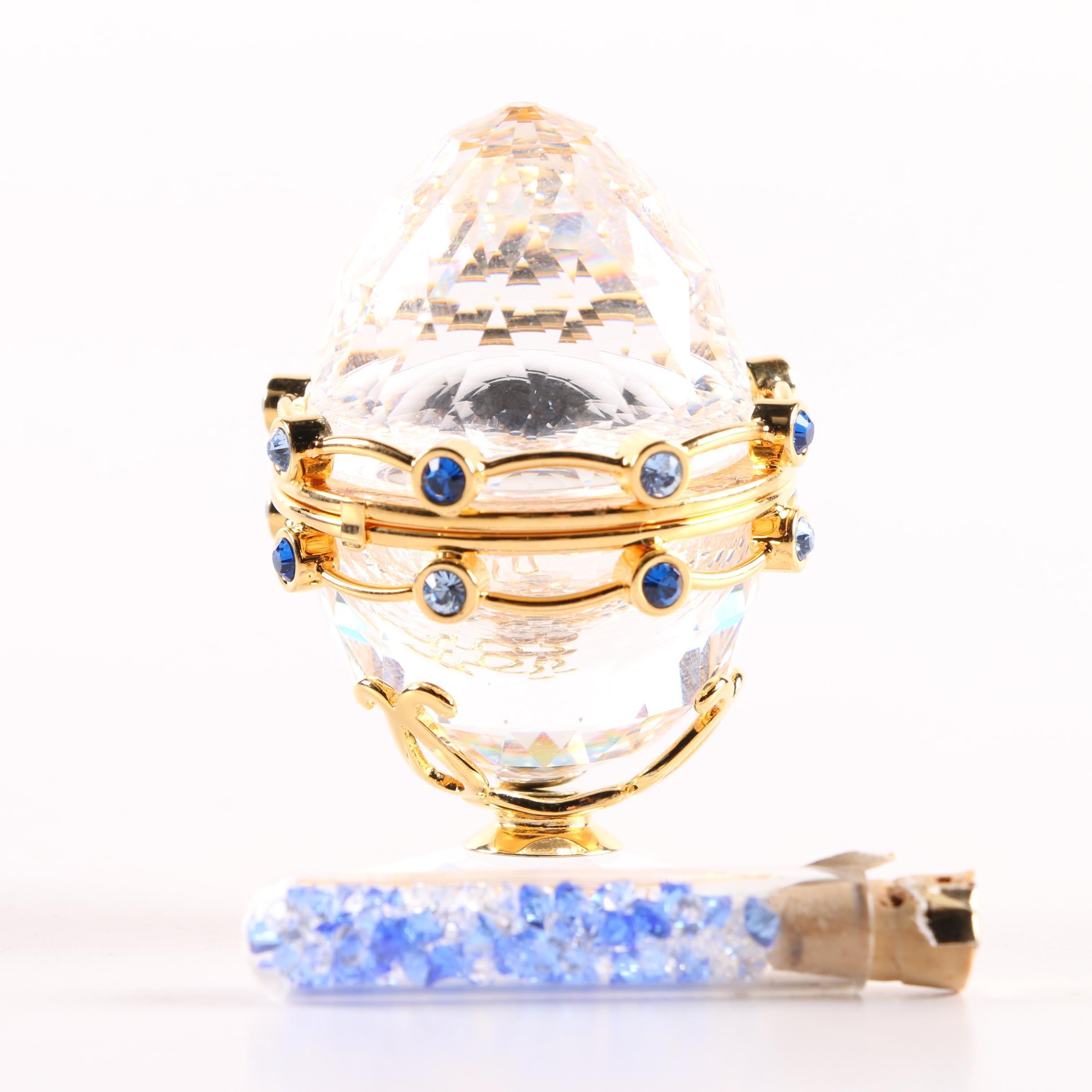 "Swarovski ""Secrets"" Miniature Crystal Egg with Garland"