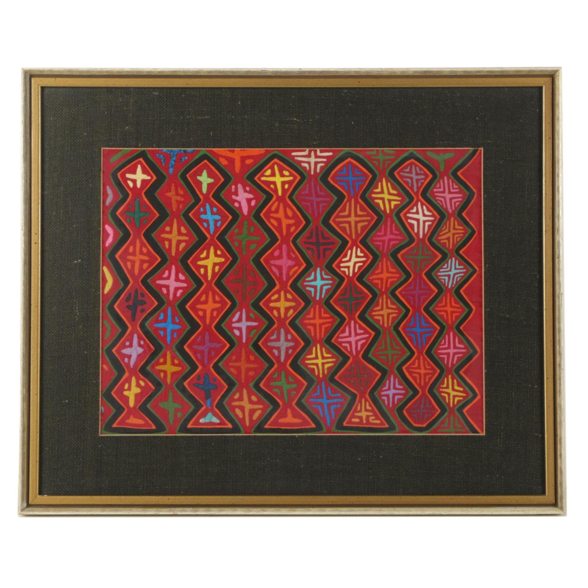 Guna Style Mola Textile