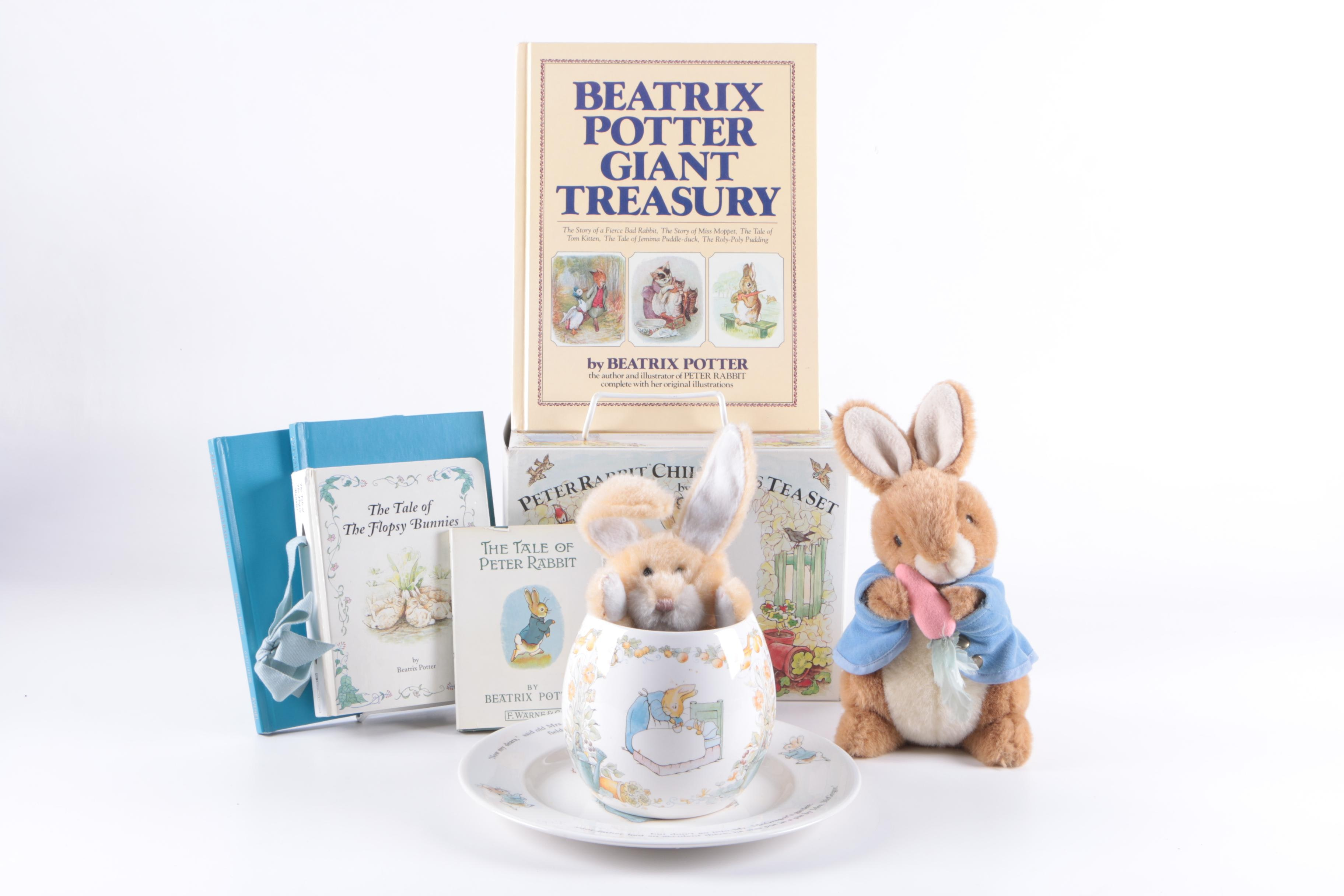 Beatrix Potter Books, Stuffed Bunnies and Wedgwood Children's Tableware