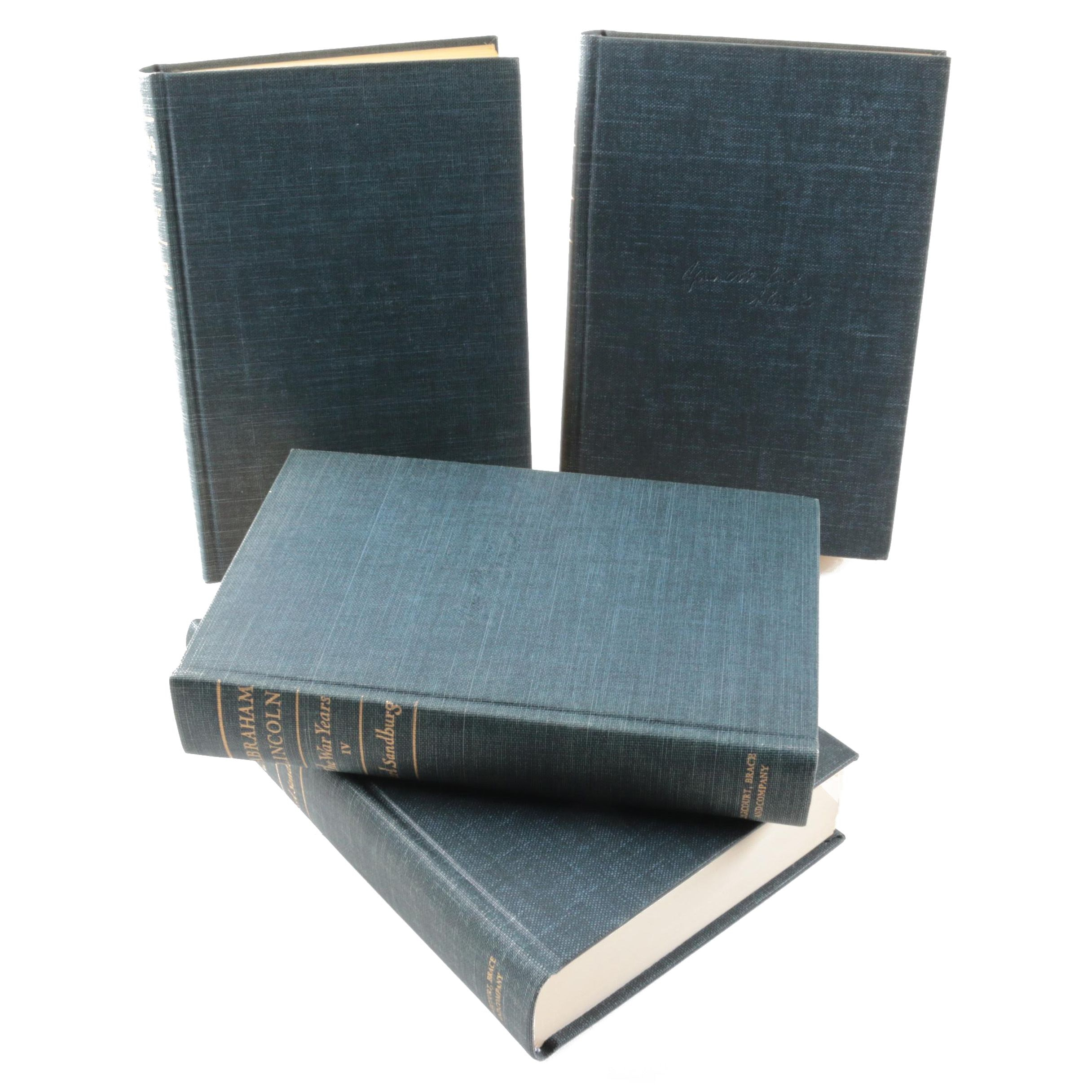 "1939 ""Abraham Lincoln: The War Years"" by Carl Sandburg in Four Volumes"