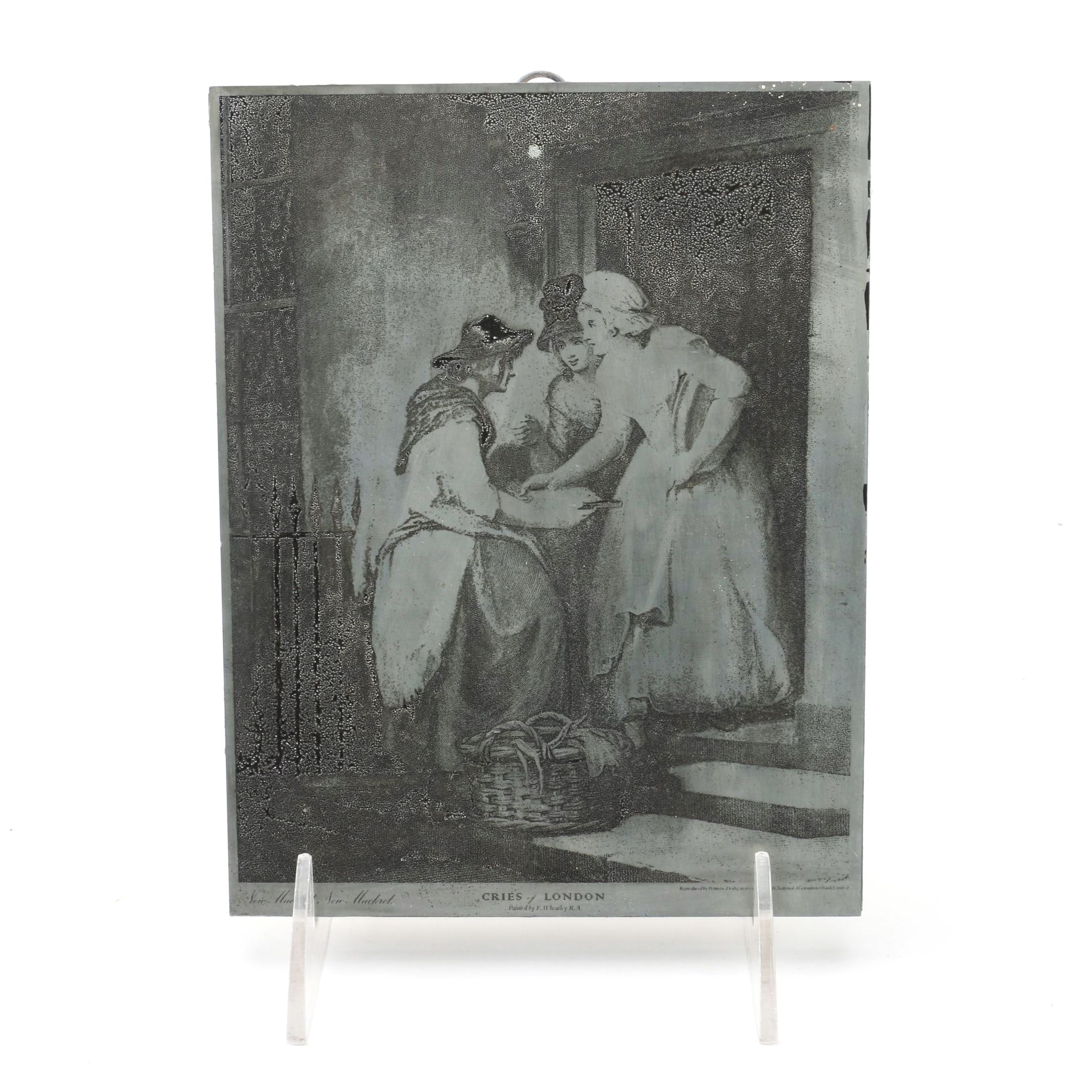 """Wall Hanging After F.W. Wheatley's """"Cries of London"""""""