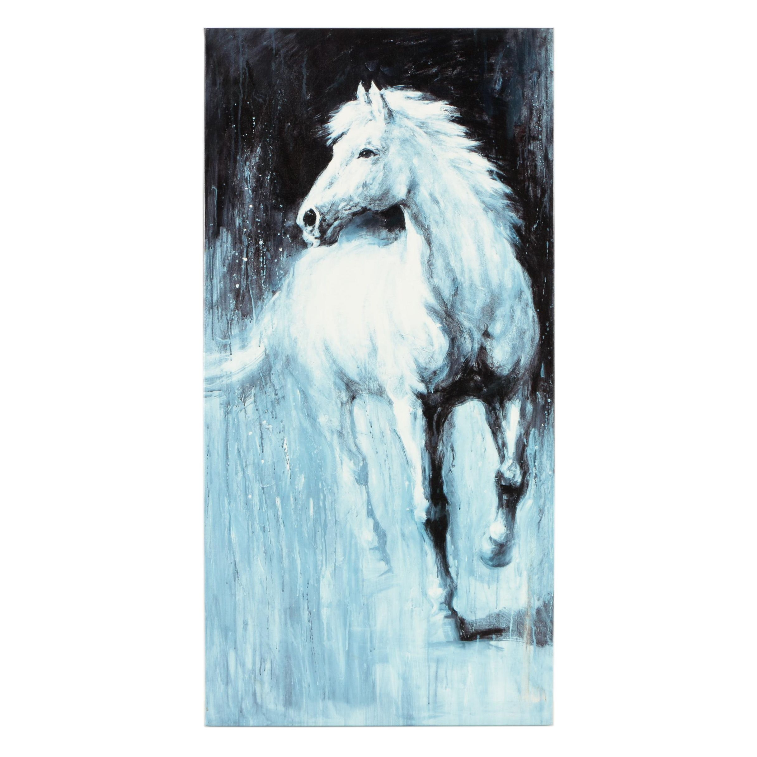 Giclee Print After an Equestrian Painting