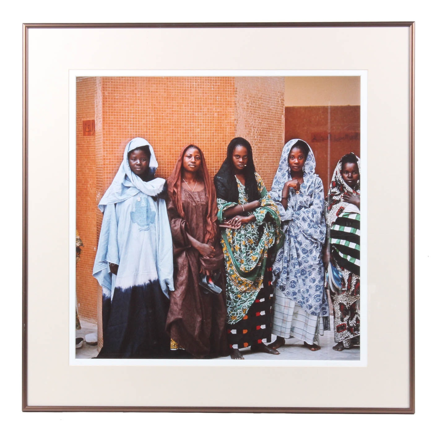 Framed Photograph of Women in Native Costume
