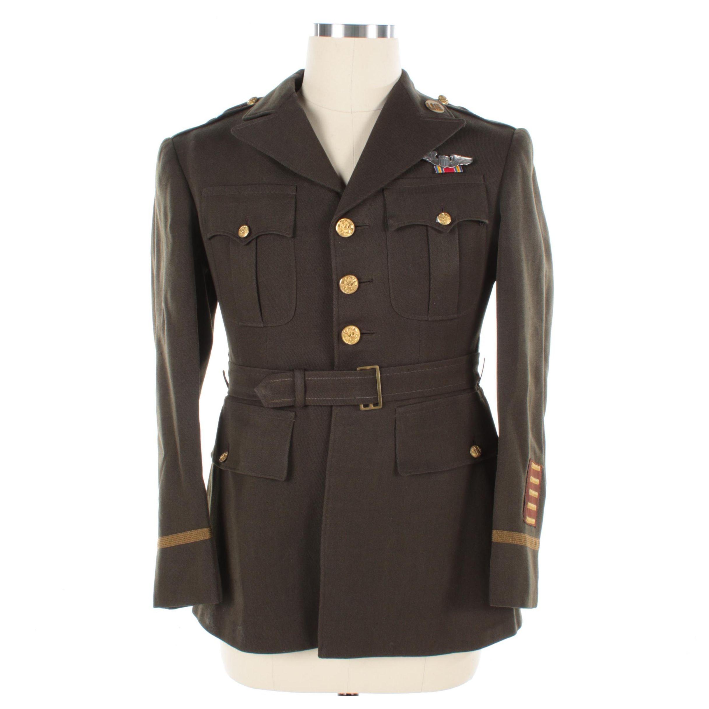World War II US Army Air Force Officer's Winter Service Uniform Jacket