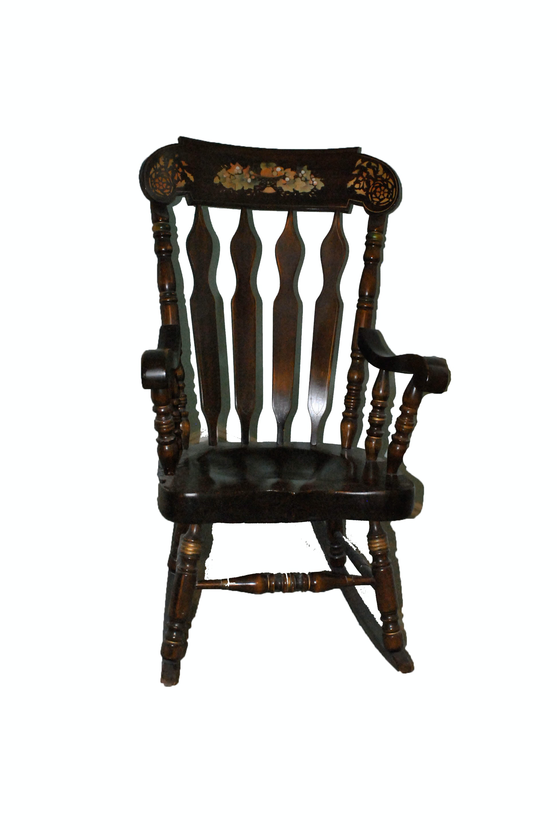 Vintage Colonial Style Maple Rocking Chair