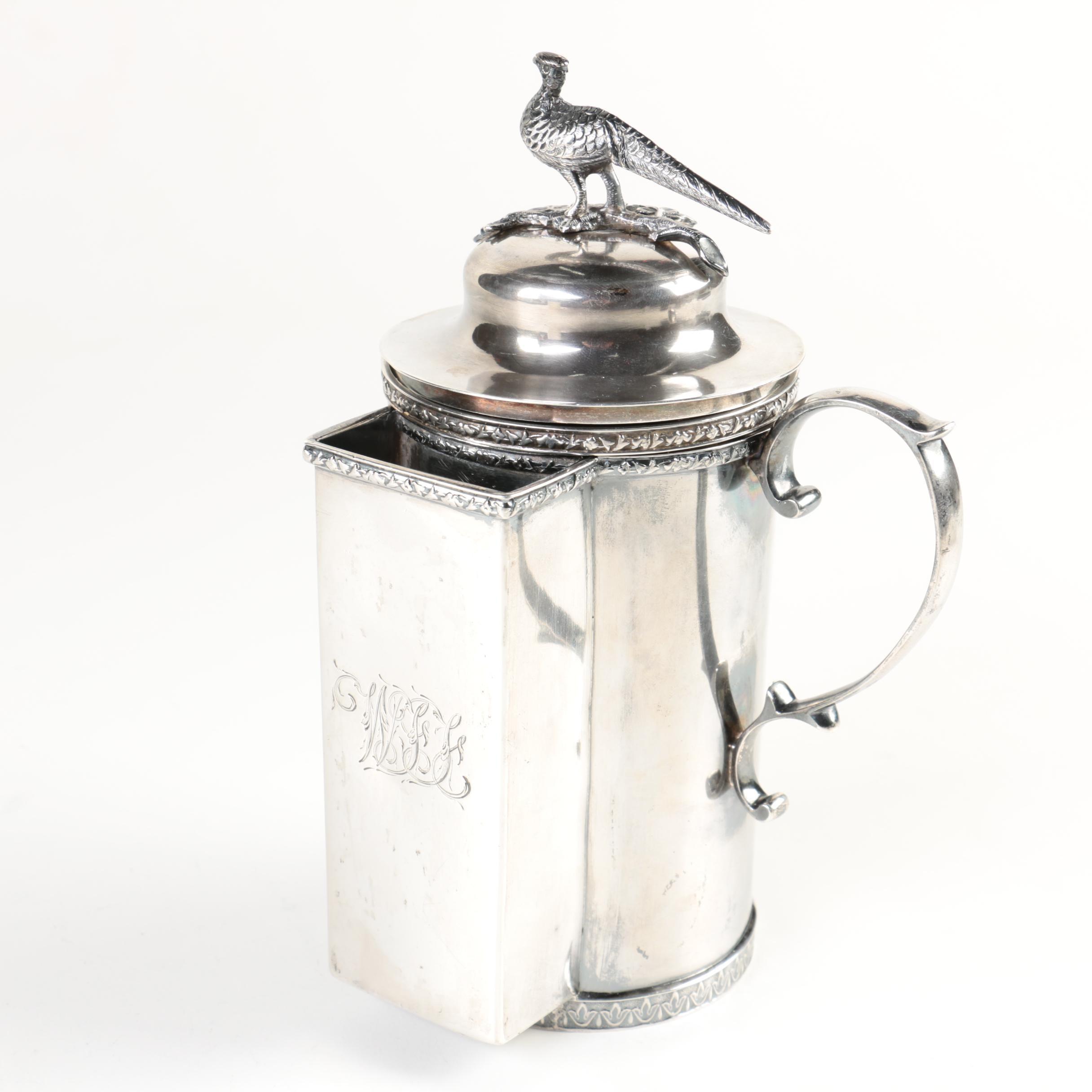 Antique R & W. Wilson Coin Silver Shaving Mug