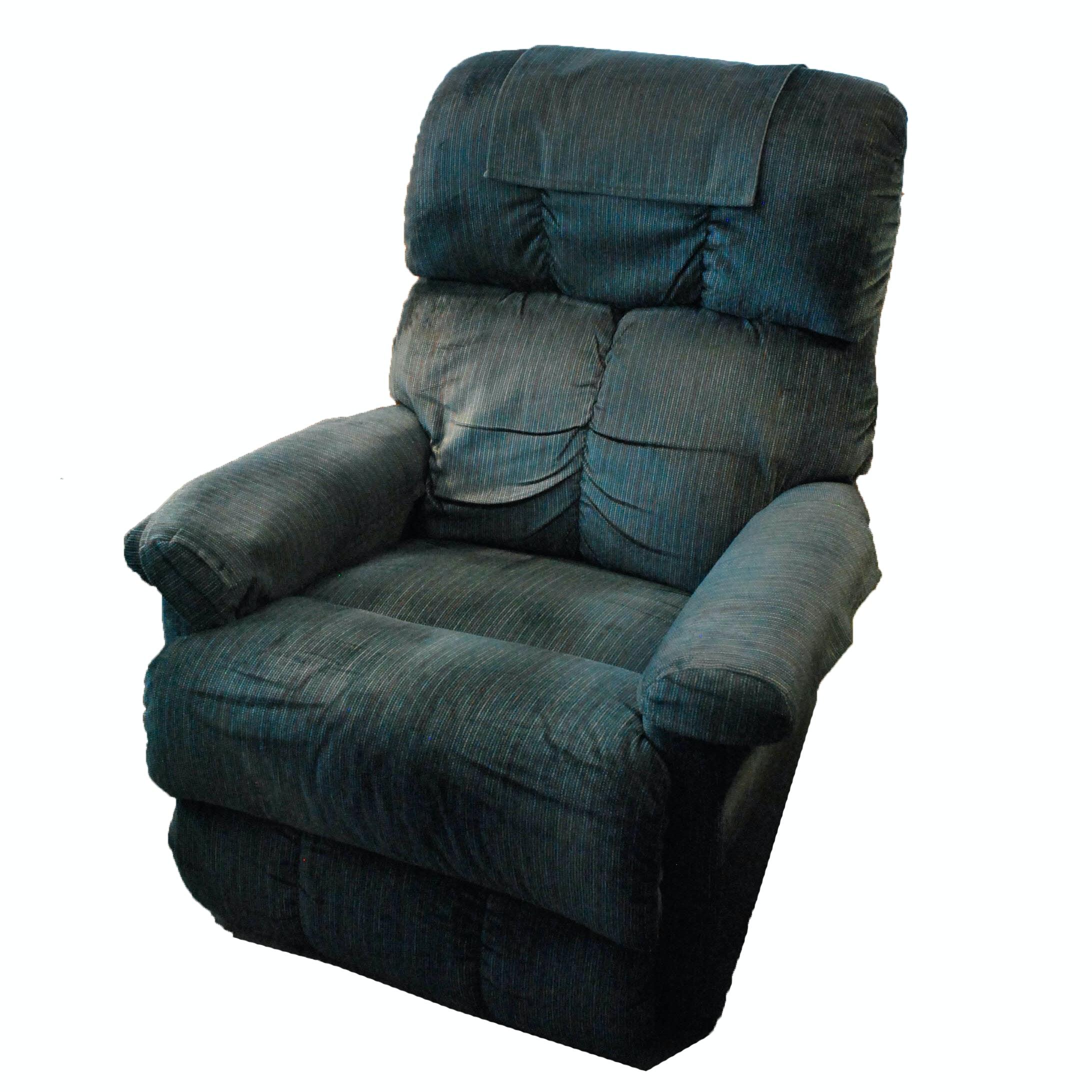 Blue Upholstered Recliner