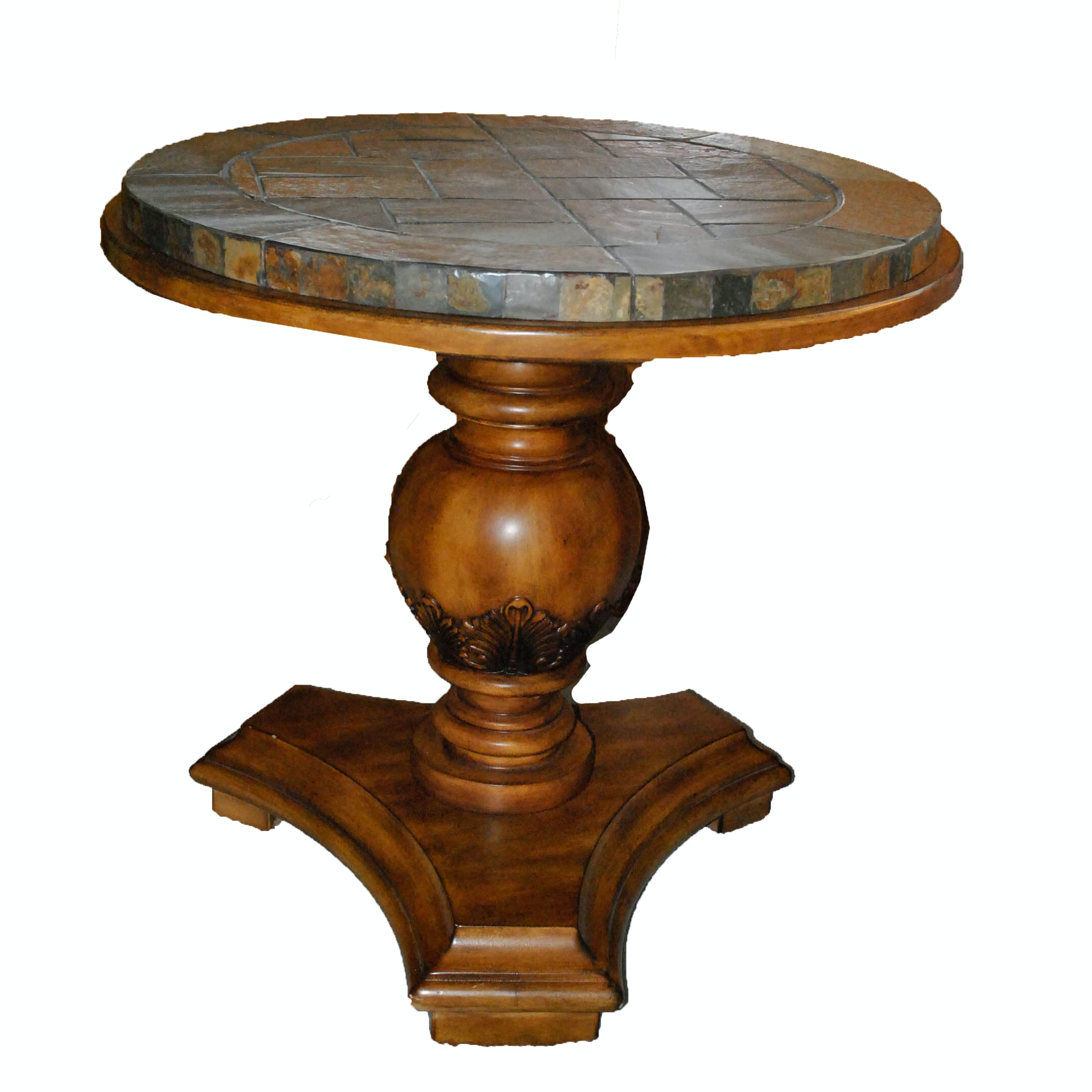 Mosaic Slate Top Side Table