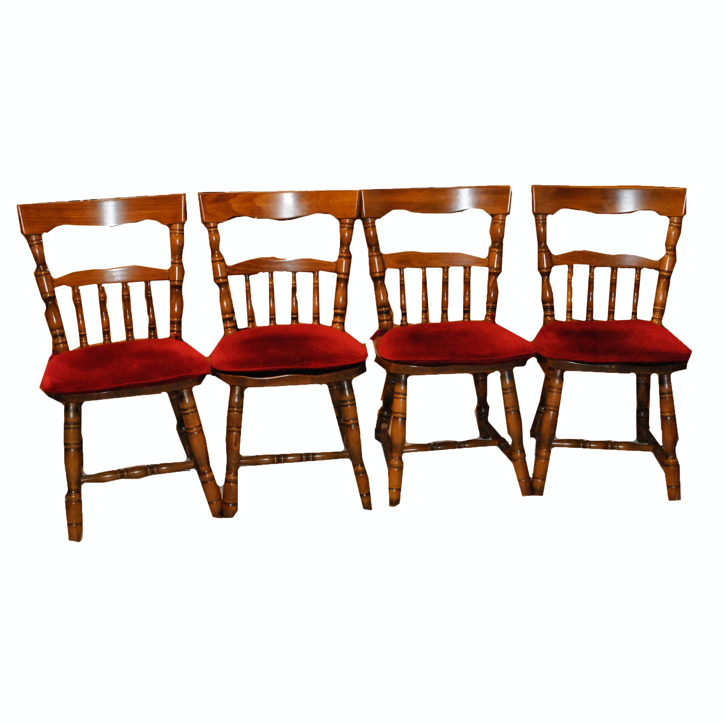 Early American Style Maple Side Chairs