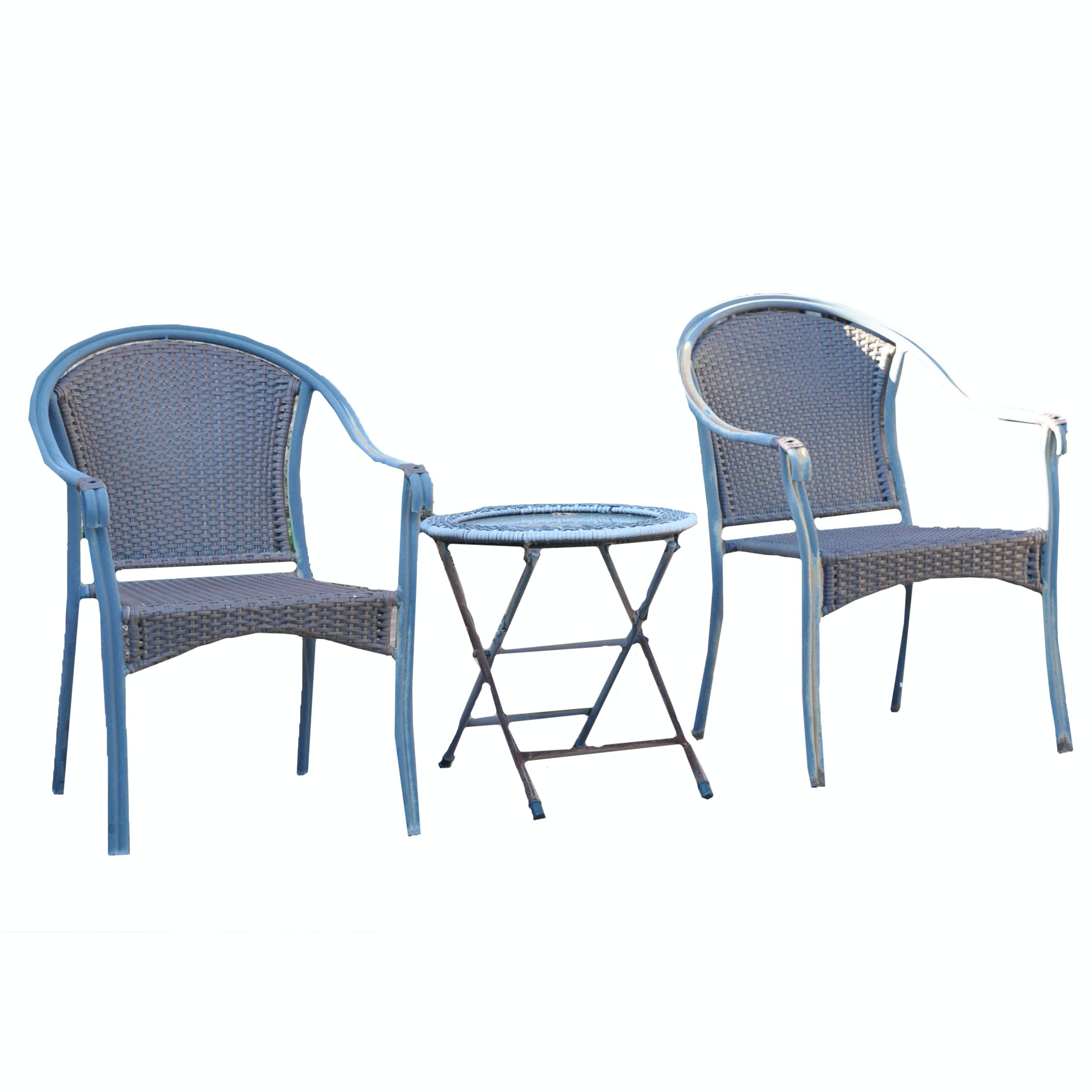 Patio Armchairs and Folding Side Table