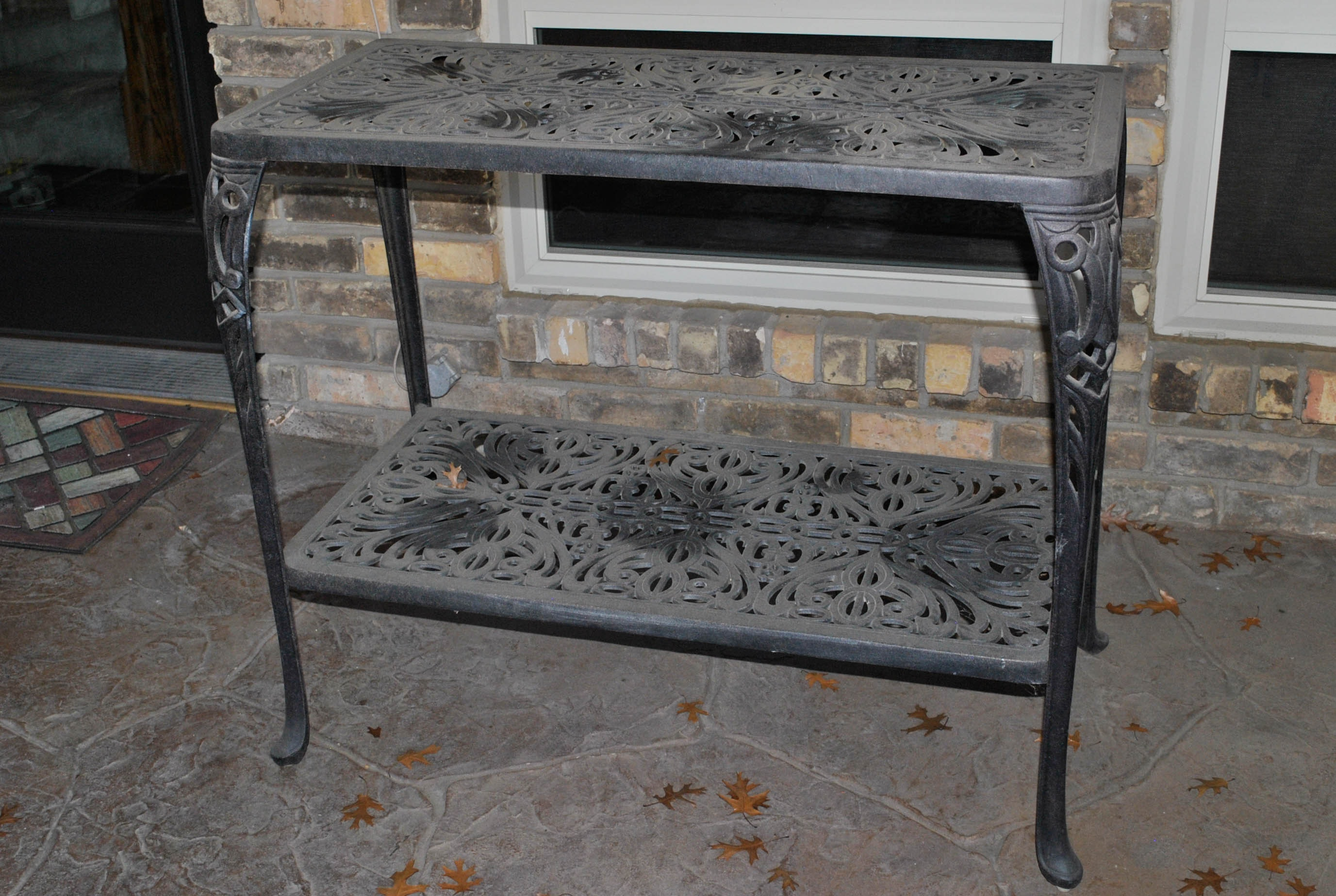Metal Patio Console Table