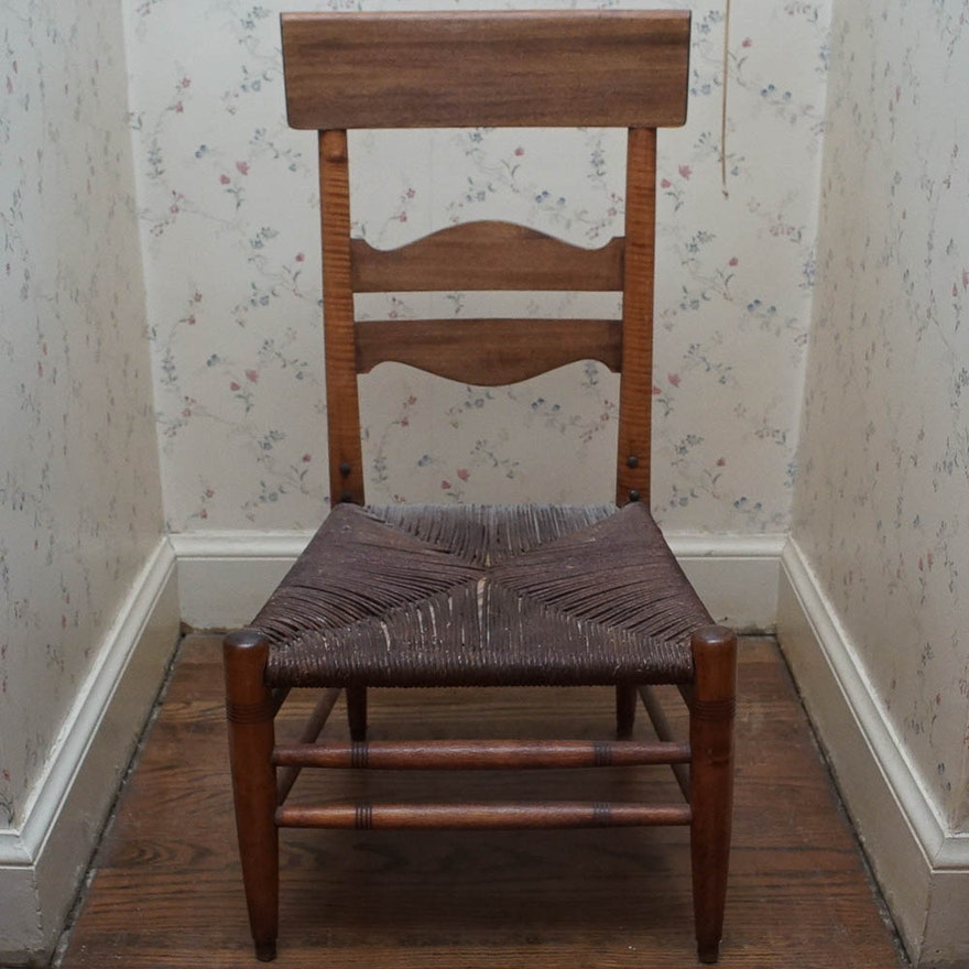 Vintage Ladder Back Chair with Rush Seat ... - Vintage Ladder Back Chair With Rush Seat : EBTH
