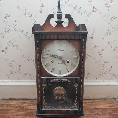 Queen Anne Style Mahogany Grandfather Clock By Howard