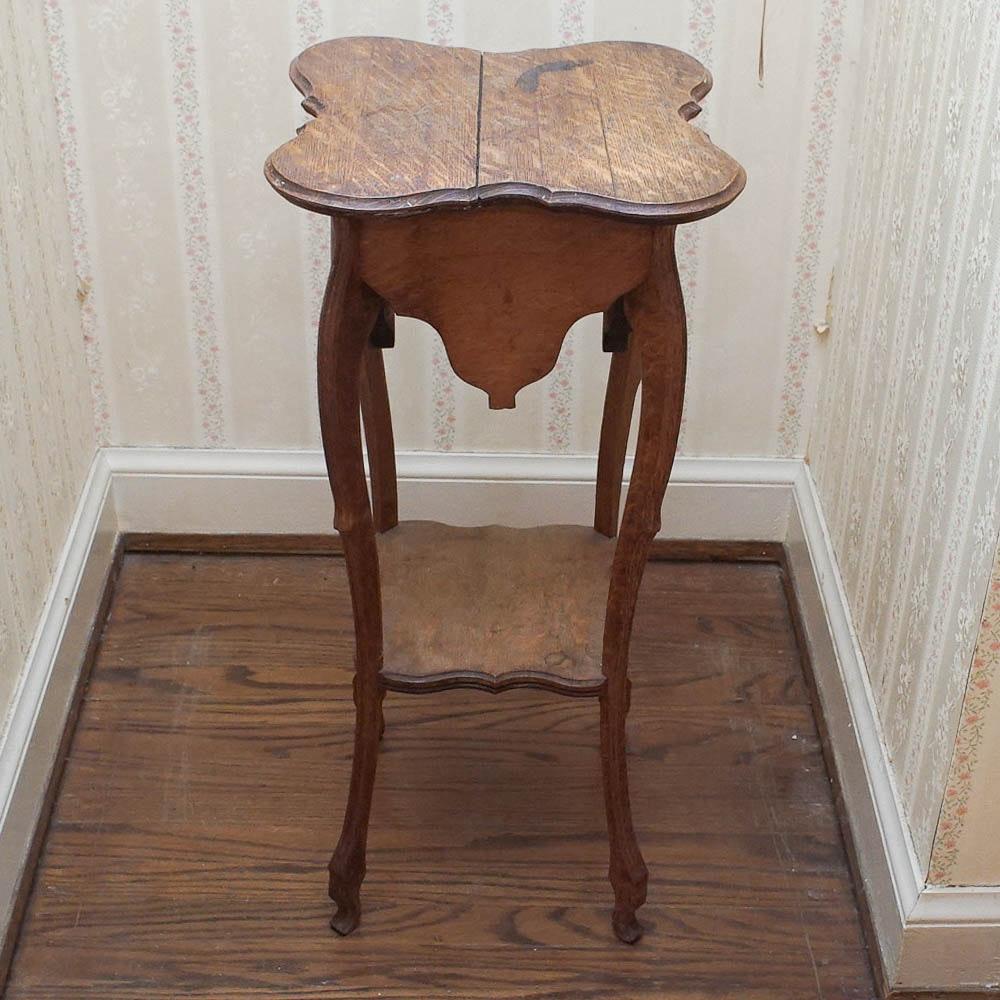 Antique Oak Accent Table