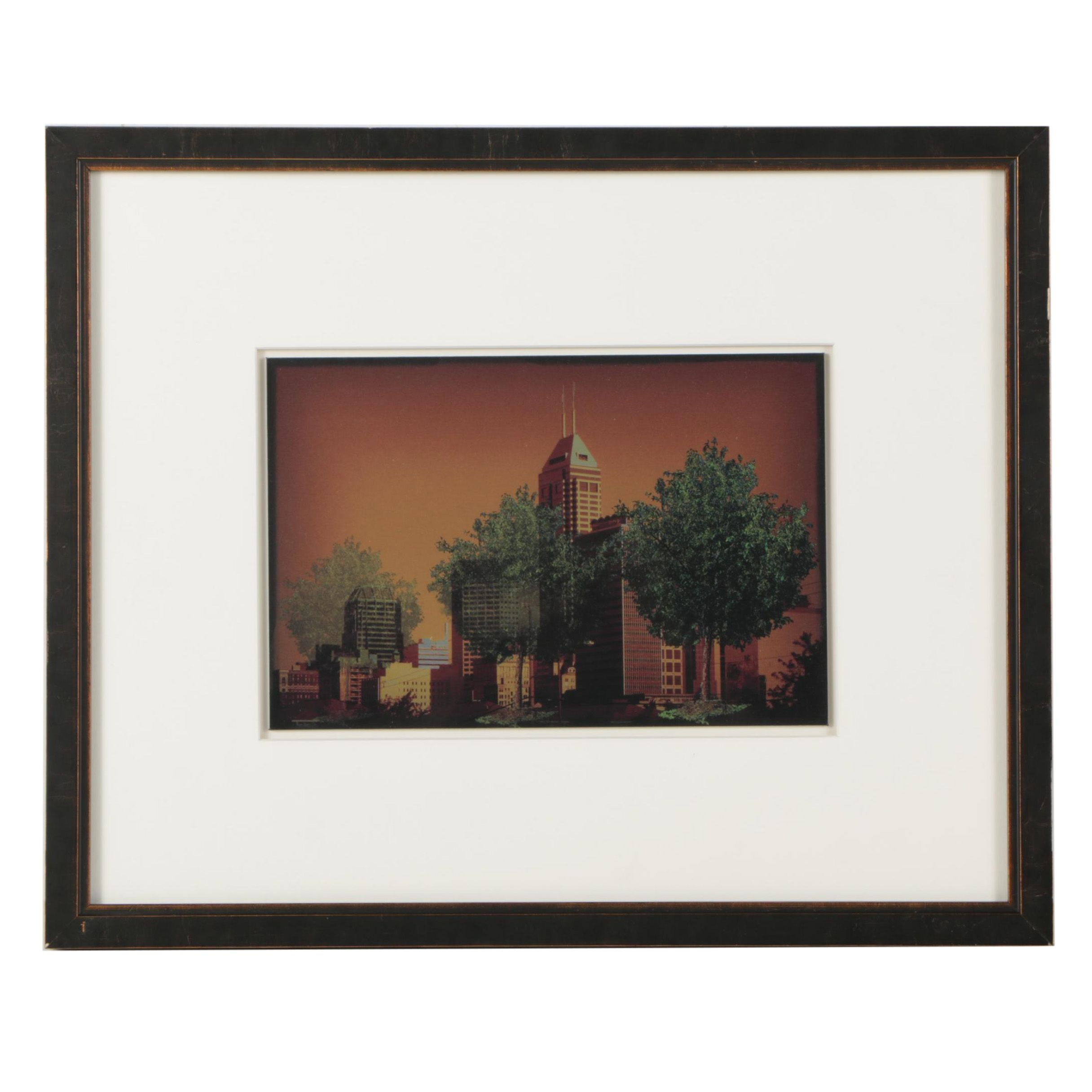 Giclee Print of Indianapolis Skyline
