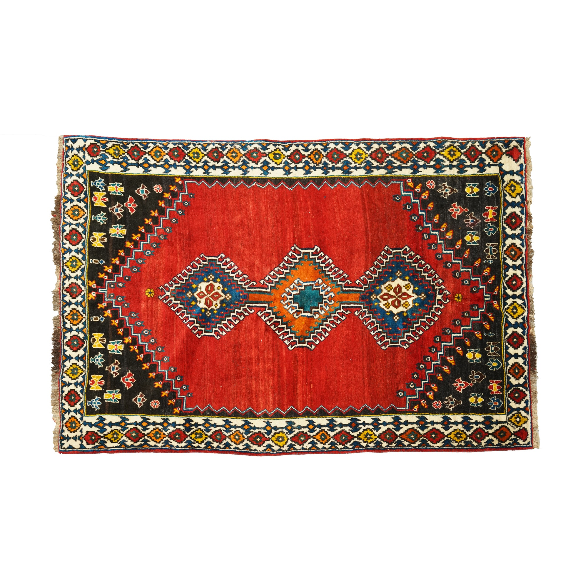 Hand-Knotted Gendje Tribal Wool Area Rug