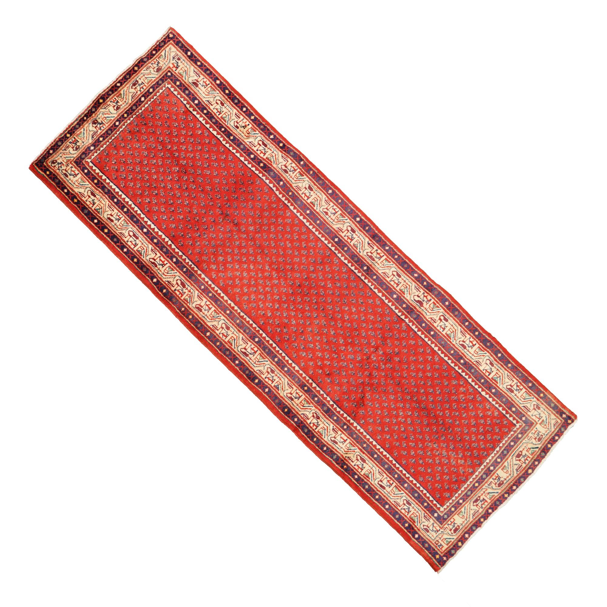 Hand-Knotted Mir Seraband Wool Carpet Runner