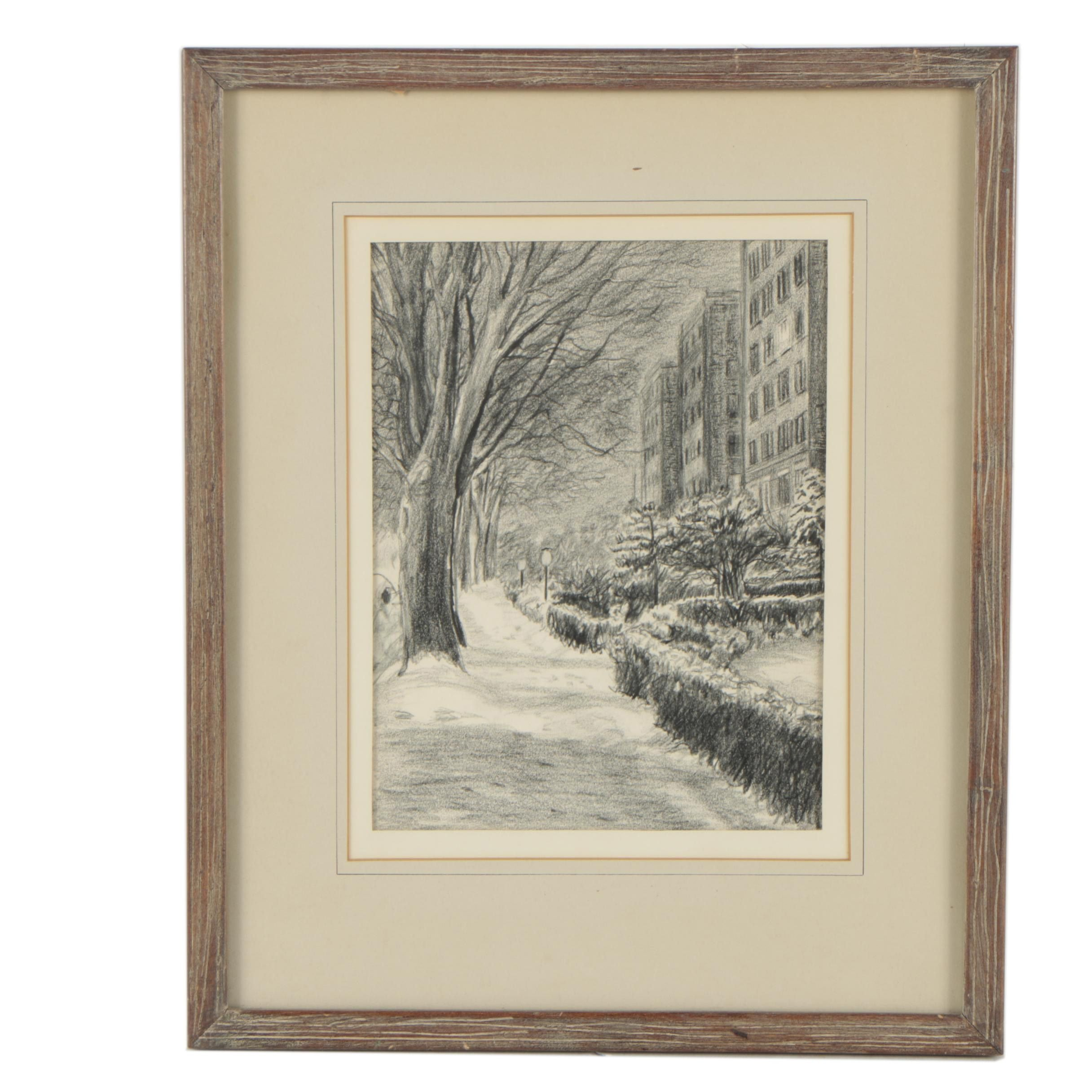 "Lithograph After Rockwell Schaefer ""First Snow"""