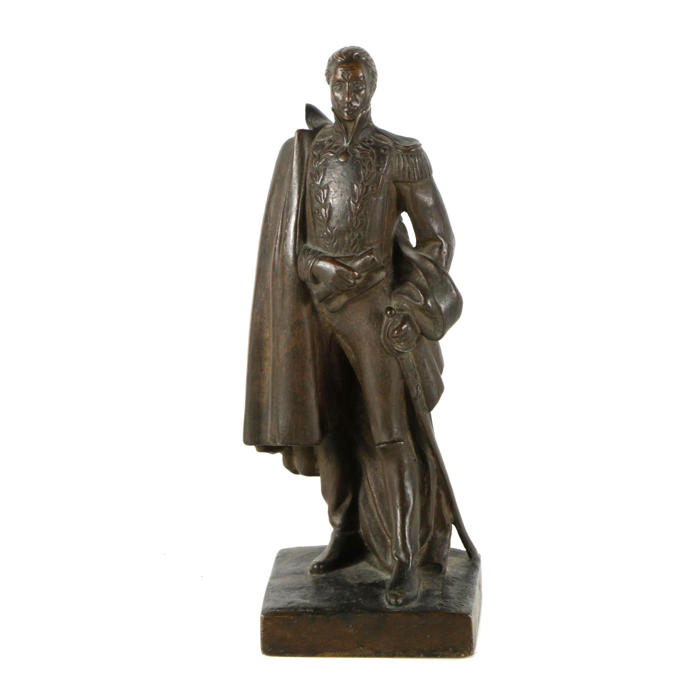 Bronze Sculpture of 18th Century Military Figure