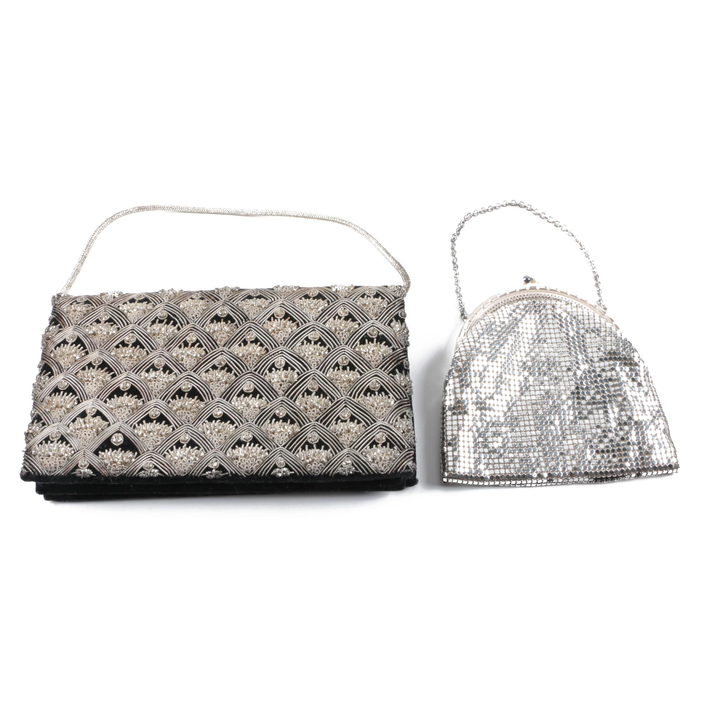Vintage Evening Handbags Inclduing Metallic Mesh