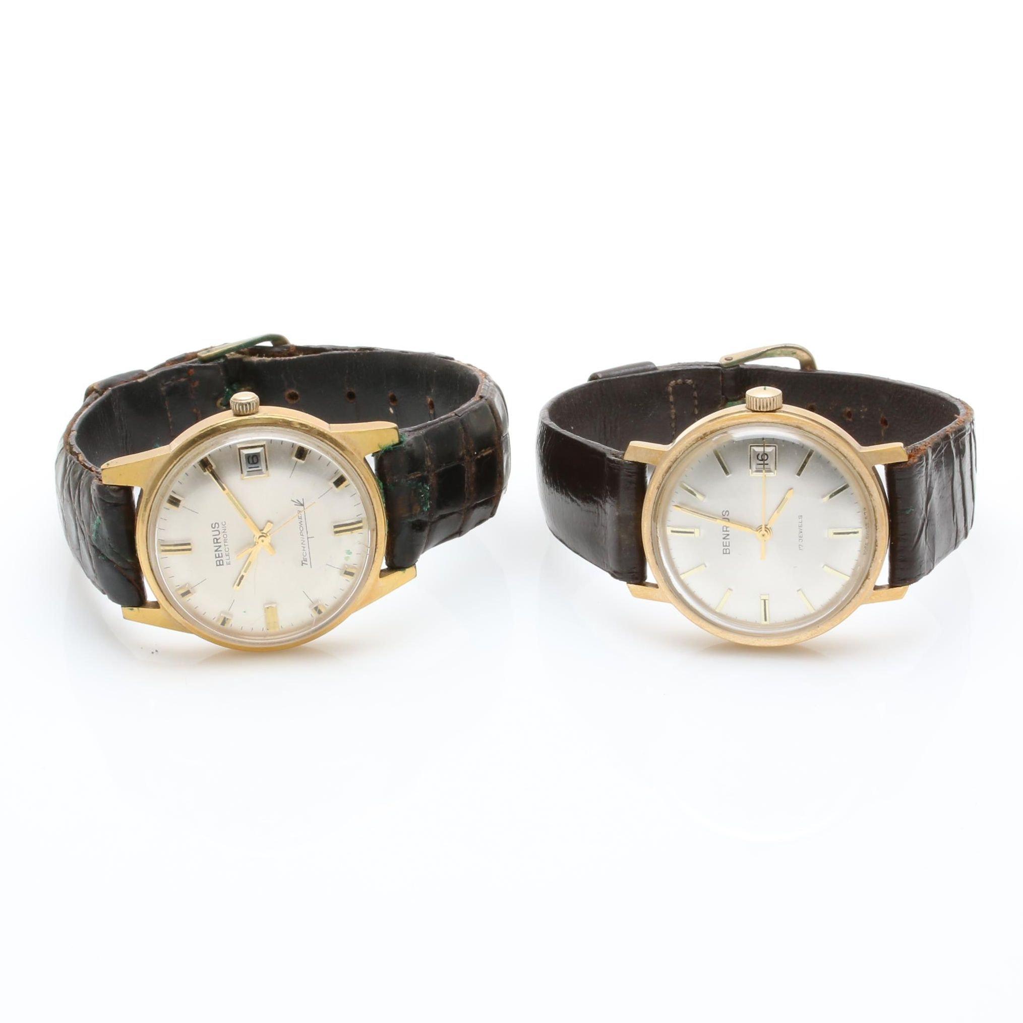 Gold Tone Benrus Wristwatch Assortment
